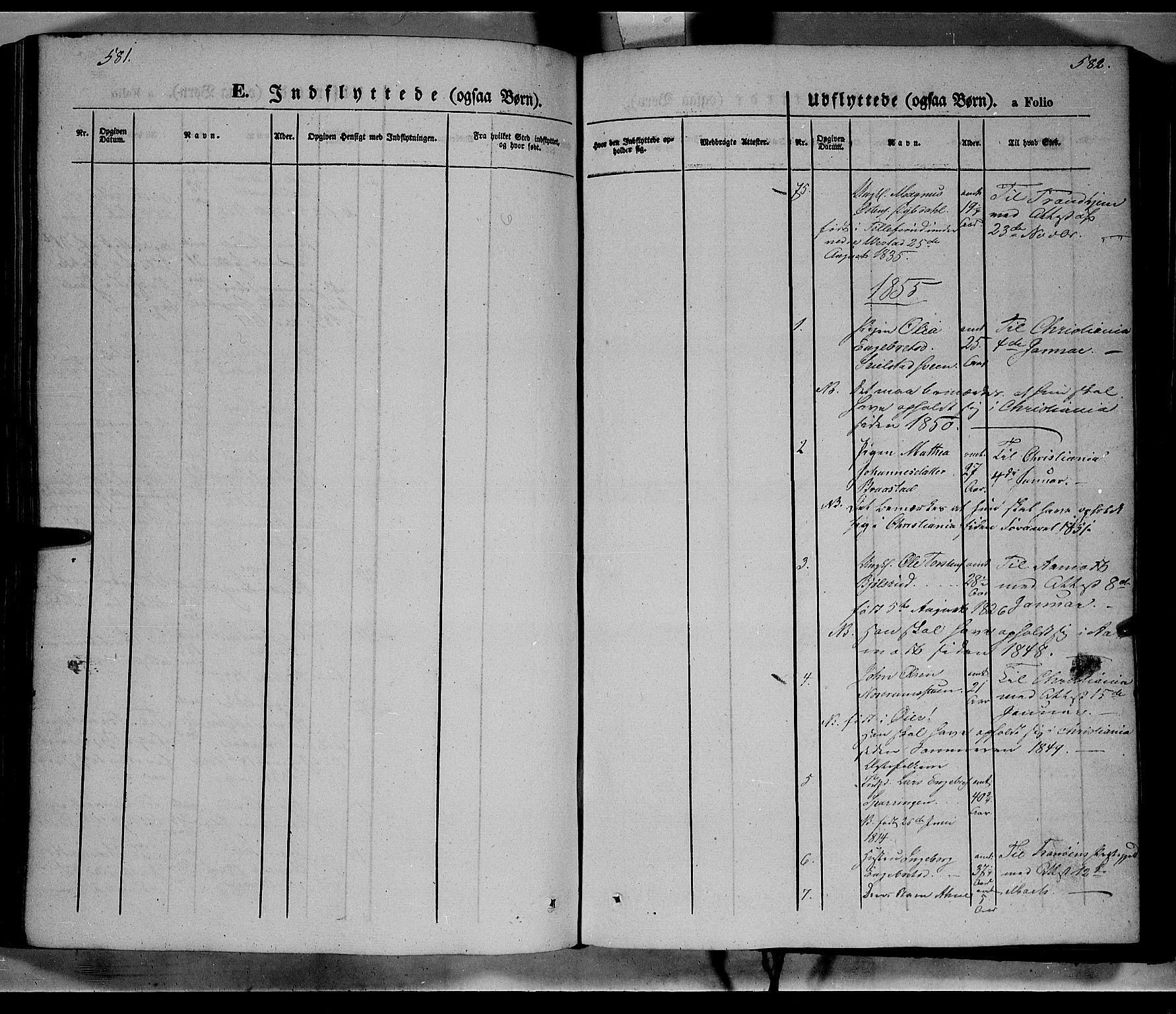 SAH, Ringebu prestekontor, Ministerialbok nr. 6, 1848-1859, s. 581-582