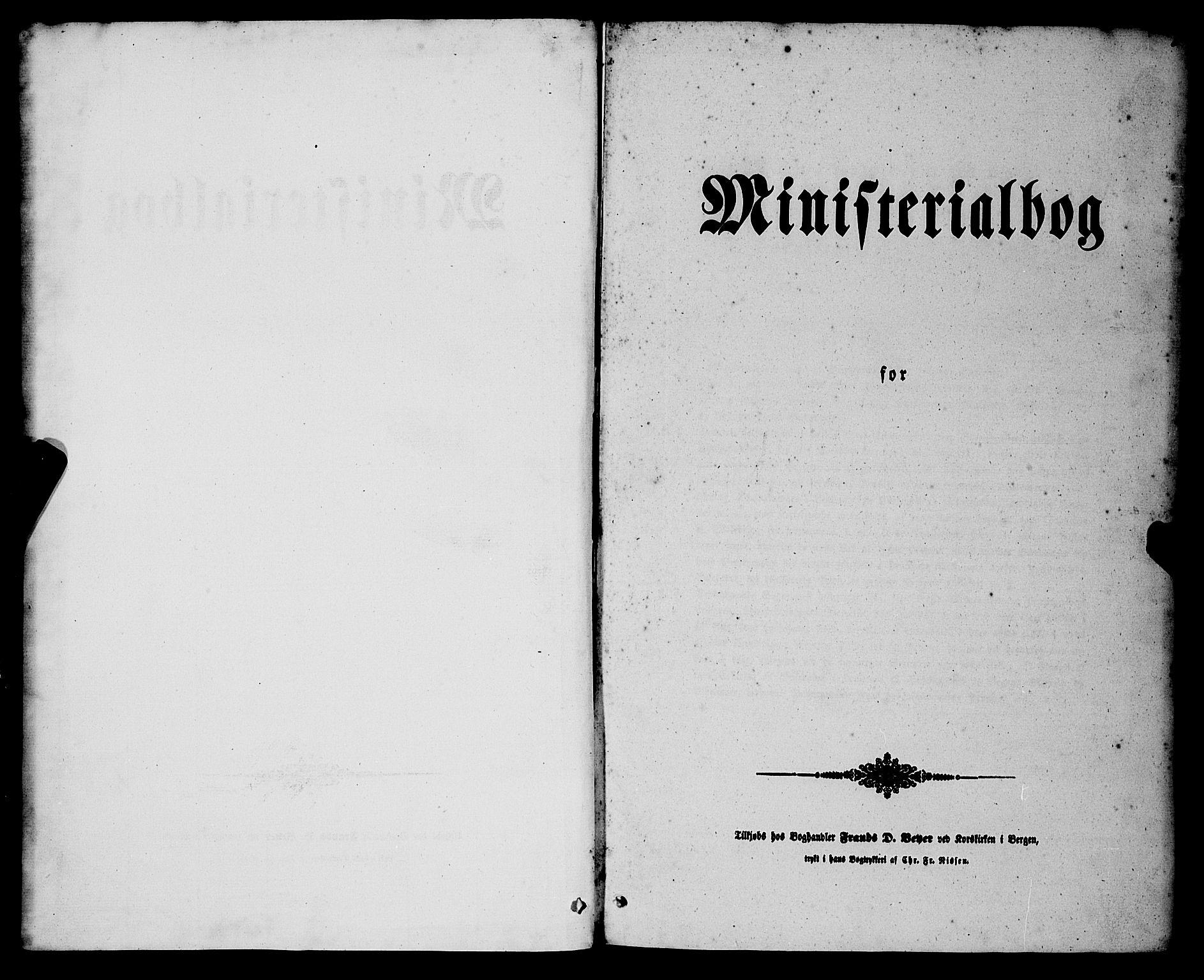 SAB, Nykirken Sokneprestembete, H/Haa: Ministerialbok nr. E 2, 1850-1868, s. 1