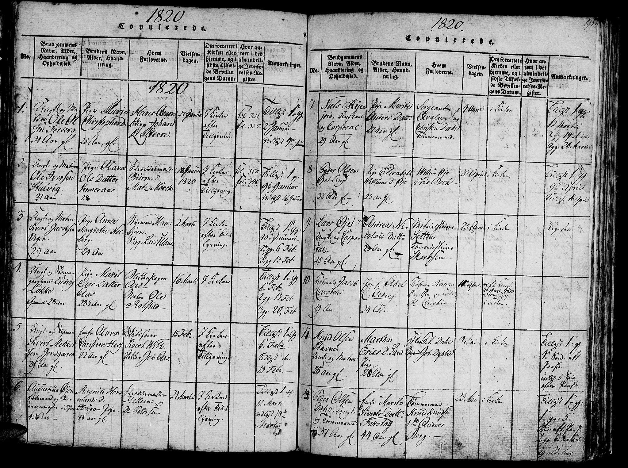 SAT, Ministerialprotokoller, klokkerbøker og fødselsregistre - Sør-Trøndelag, 602/L0135: Klokkerbok nr. 602C03, 1815-1832, s. 195
