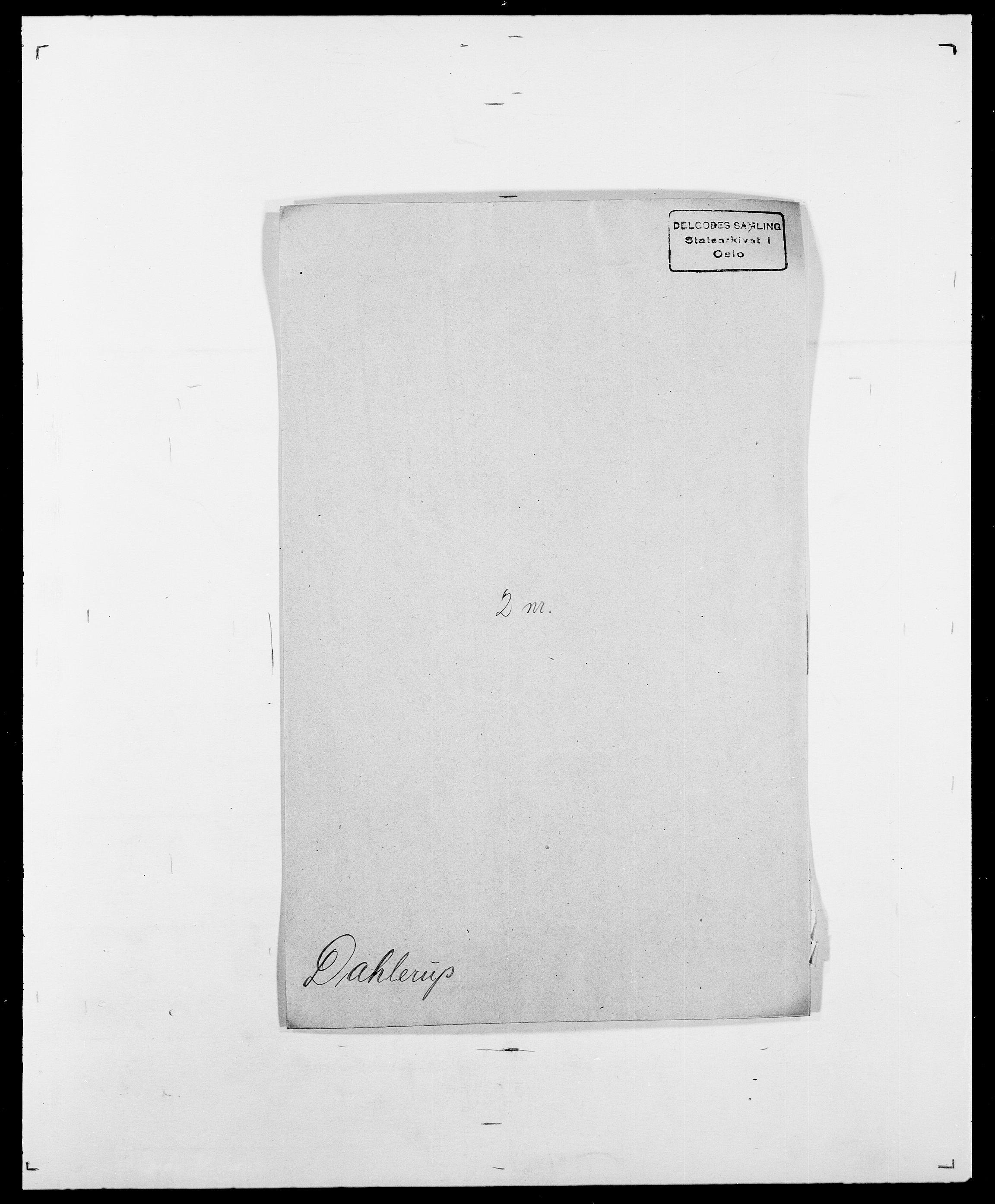 SAO, Delgobe, Charles Antoine - samling, D/Da/L0009: Dahl - v. Düren, s. 205