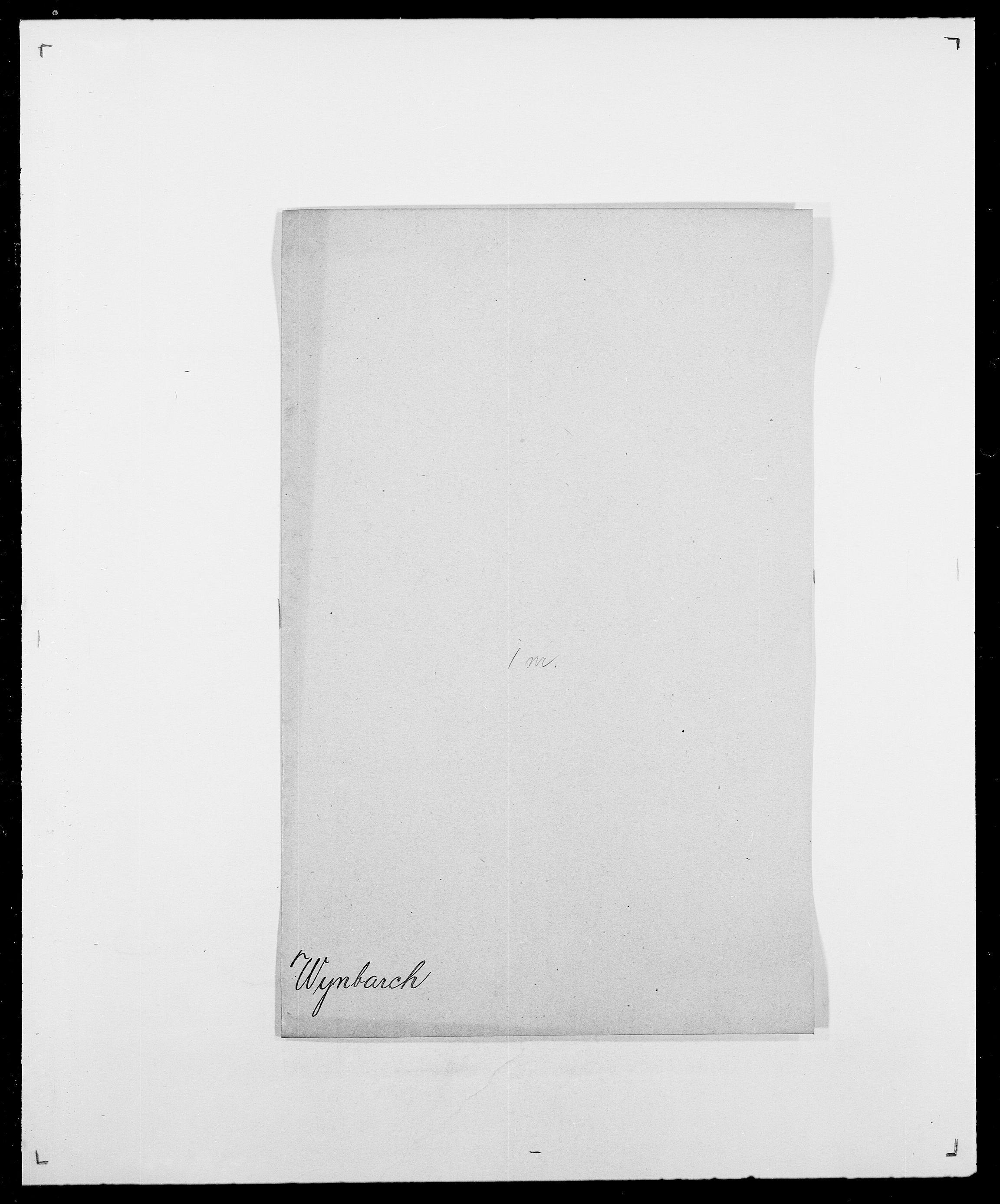 SAO, Delgobe, Charles Antoine - samling, D/Da/L0043: Wulfsberg - v. Zanten, s. 21