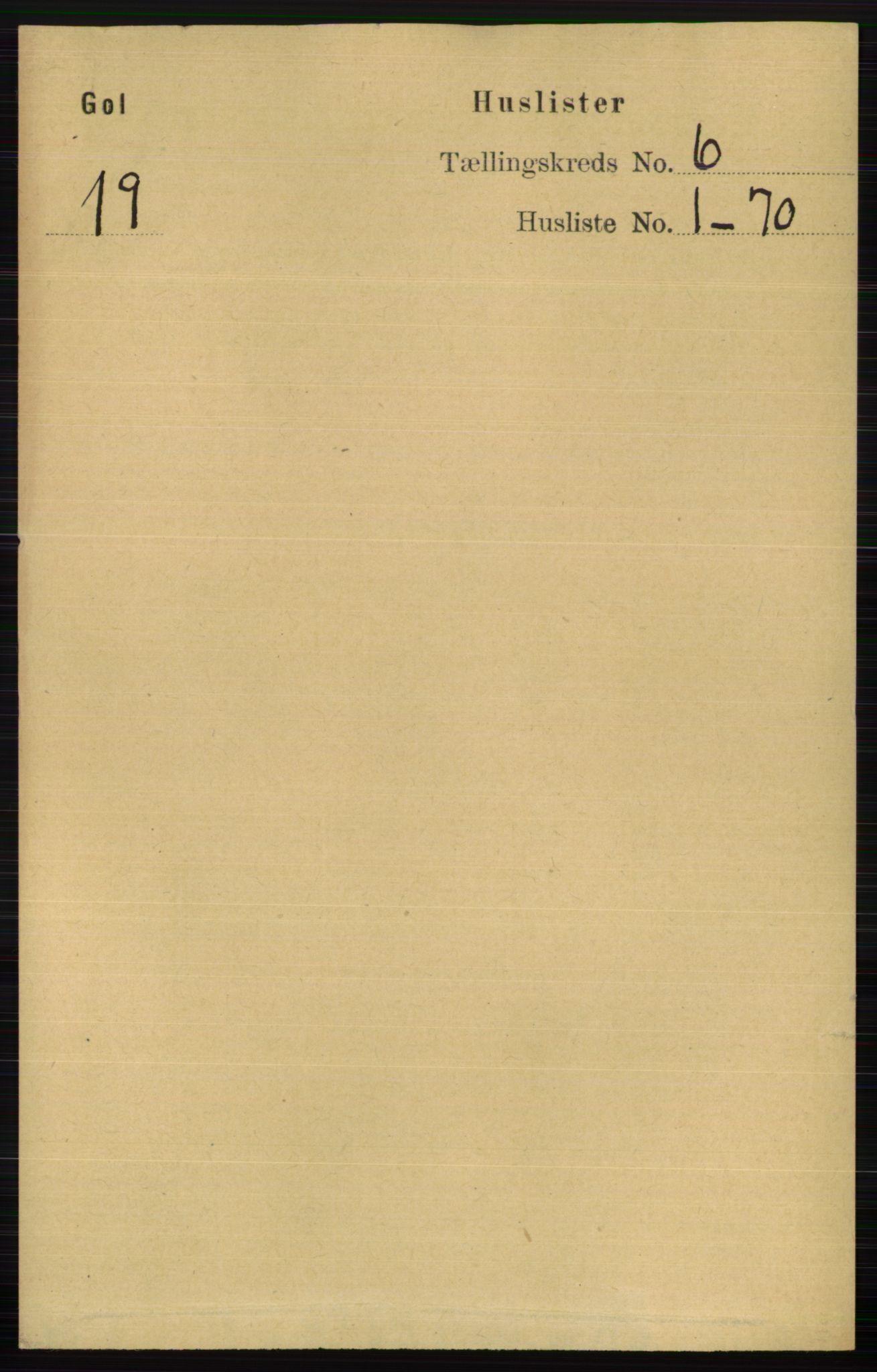 RA, Folketelling 1891 for 0617 Gol og Hemsedal herred, 1891, s. 2348