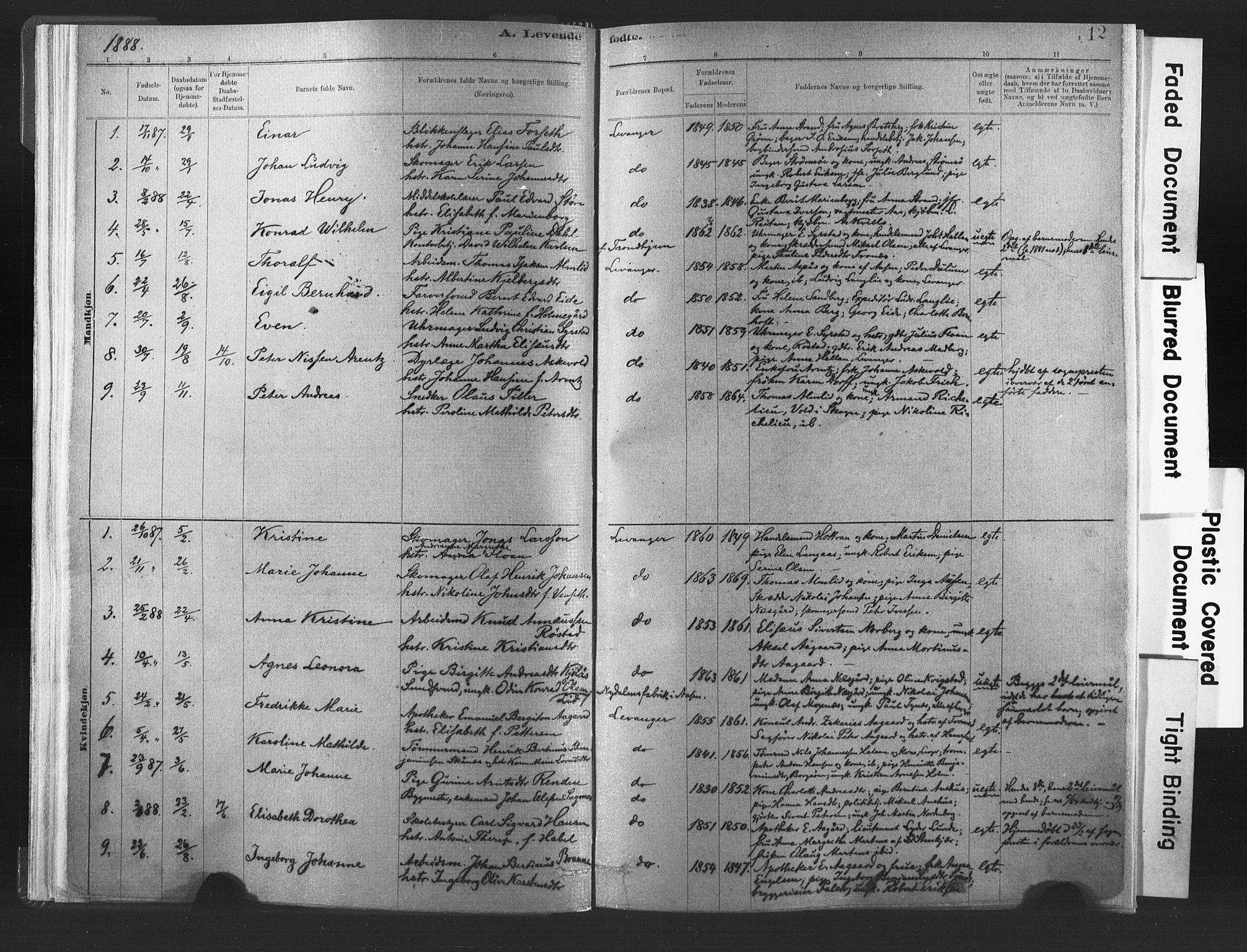 SAT, Ministerialprotokoller, klokkerbøker og fødselsregistre - Nord-Trøndelag, 720/L0189: Ministerialbok nr. 720A05, 1880-1911, s. 12
