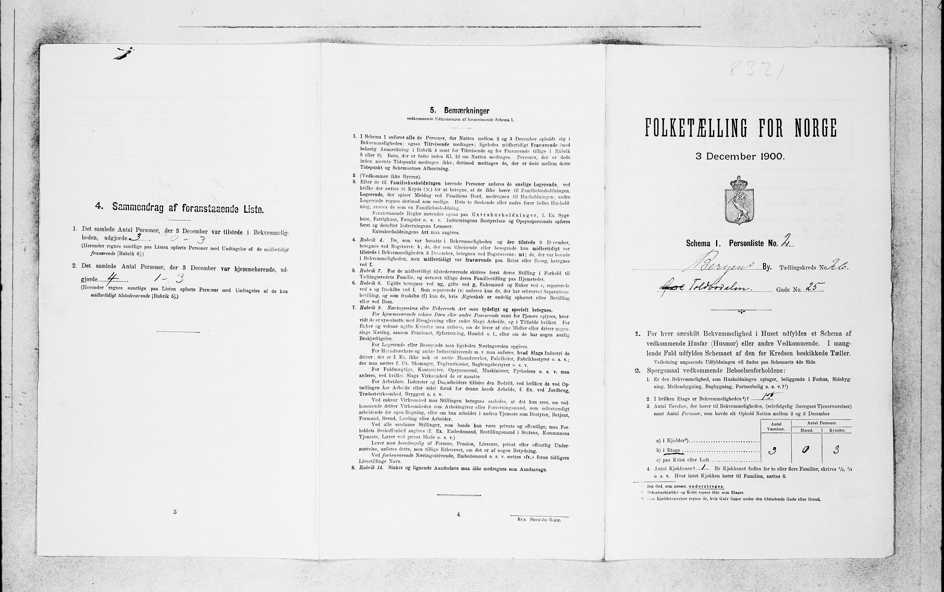 SAB, Folketelling 1900 for 1301 Bergen kjøpstad, 1900, s. 5452