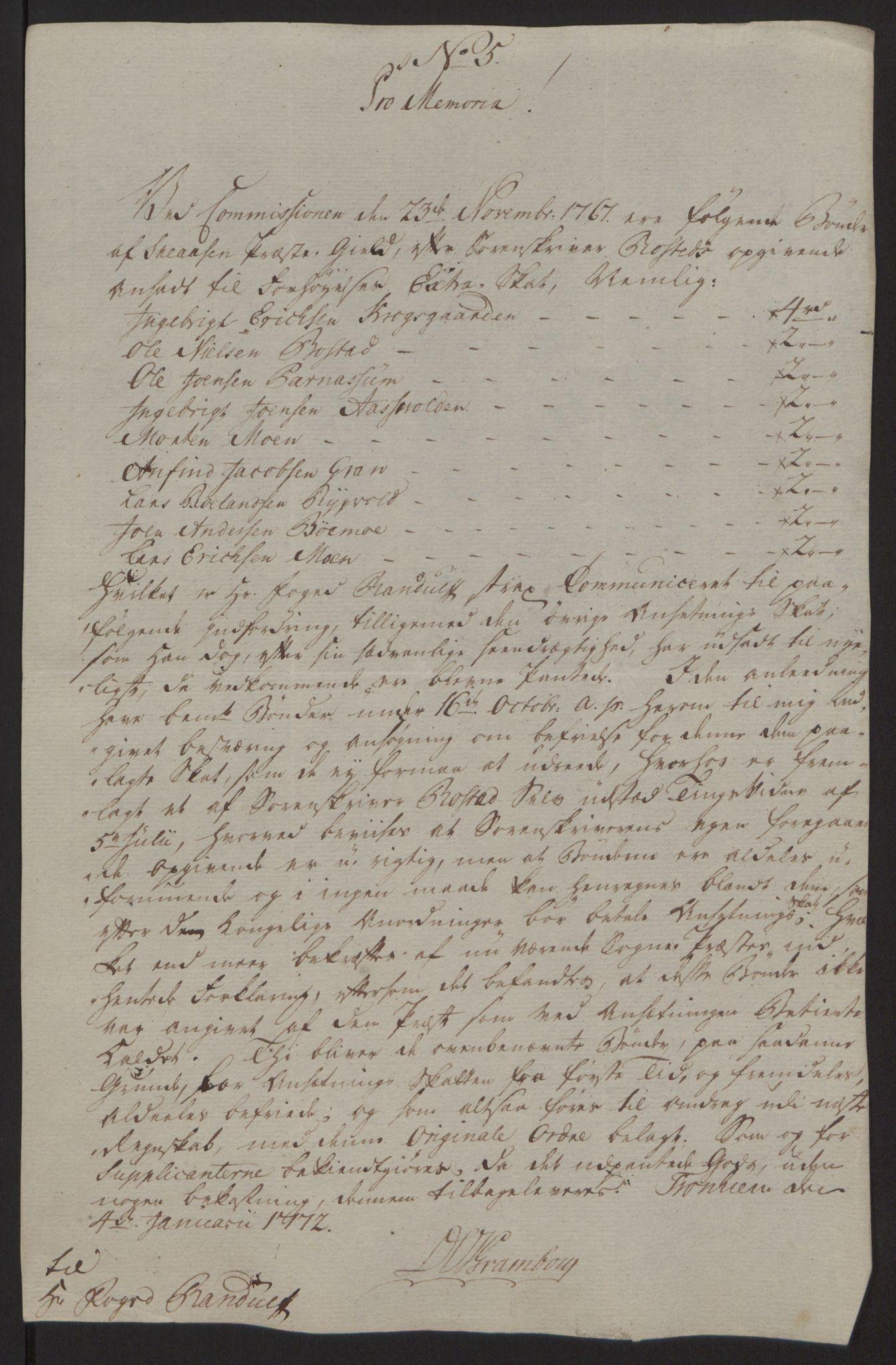 RA, Rentekammeret inntil 1814, Reviderte regnskaper, Fogderegnskap, R63/L4420: Ekstraskatten Inderøy, 1762-1772, s. 435