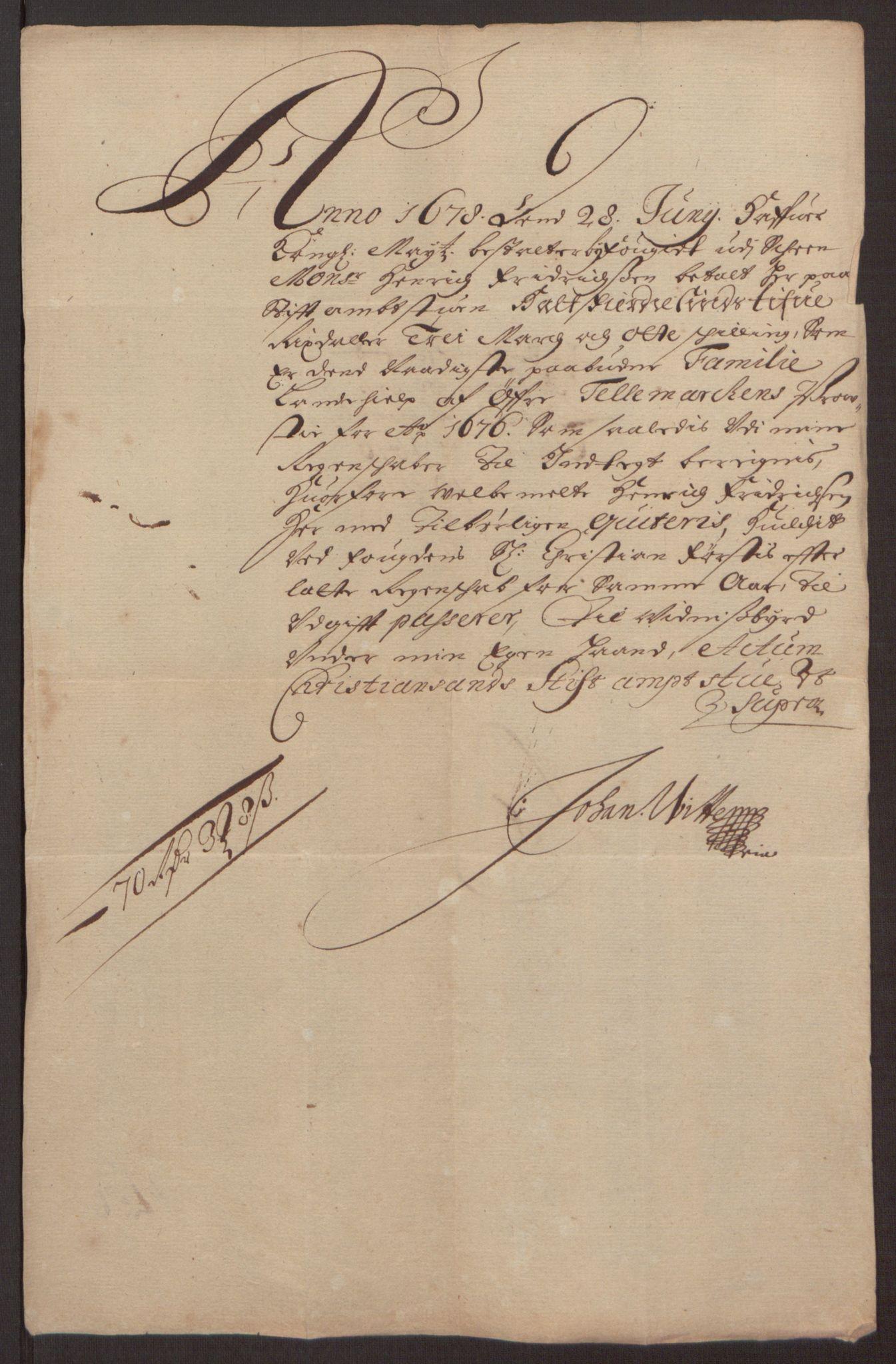 RA, Rentekammeret inntil 1814, Reviderte regnskaper, Fogderegnskap, R35/L2065: Fogderegnskap Øvre og Nedre Telemark, 1676, s. 254