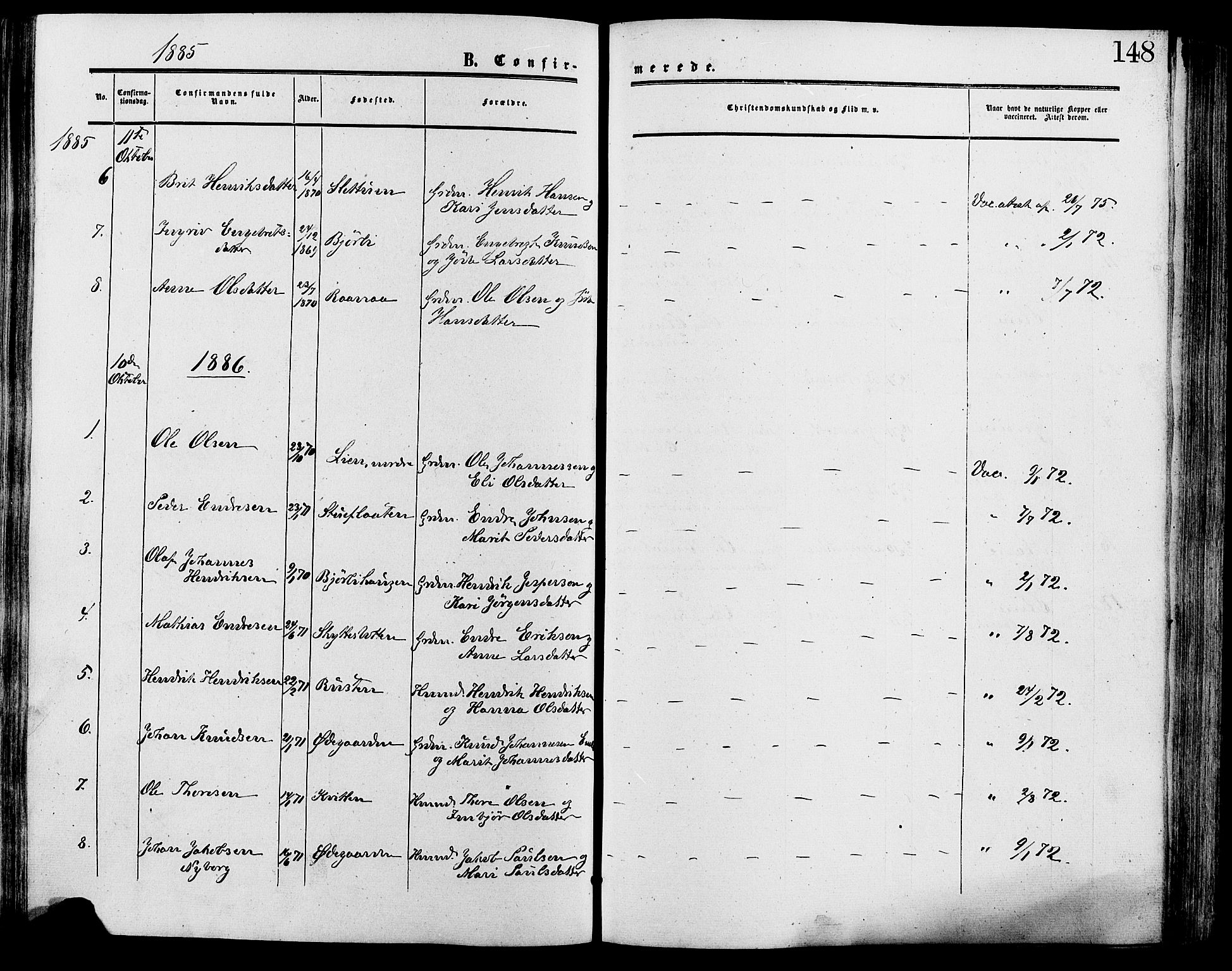 SAH, Lesja prestekontor, Ministerialbok nr. 9, 1854-1889, s. 148