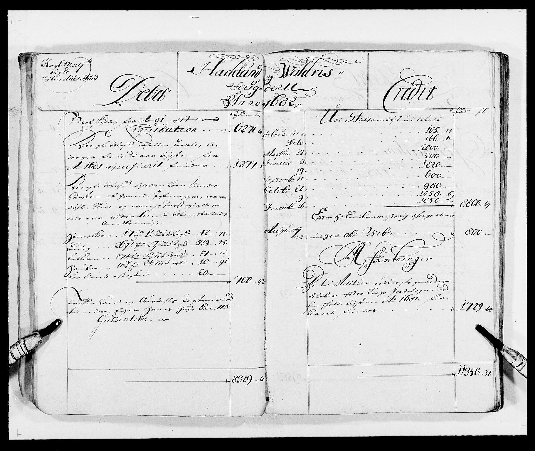 RA, Rentekammeret inntil 1814, Reviderte regnskaper, Fogderegnskap, R18/L1287: Fogderegnskap Hadeland, Toten og Valdres, 1688, s. 97