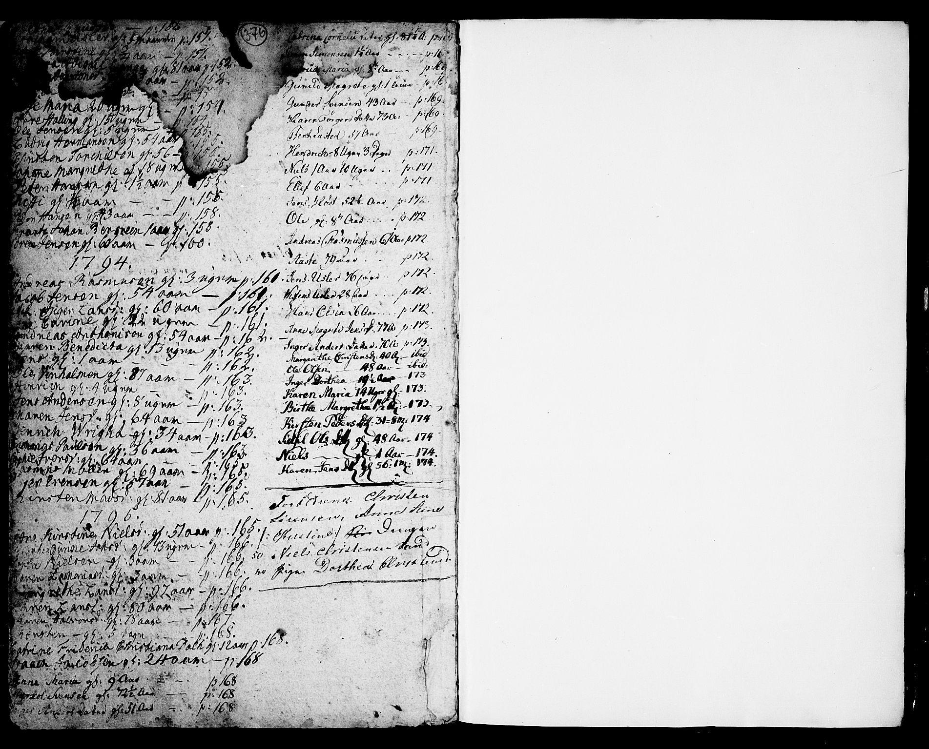 SAKO, Porsgrunn kirkebøker , F/Fa/L0001: Ministerialbok nr. 1, 1764-1814, s. 376-377