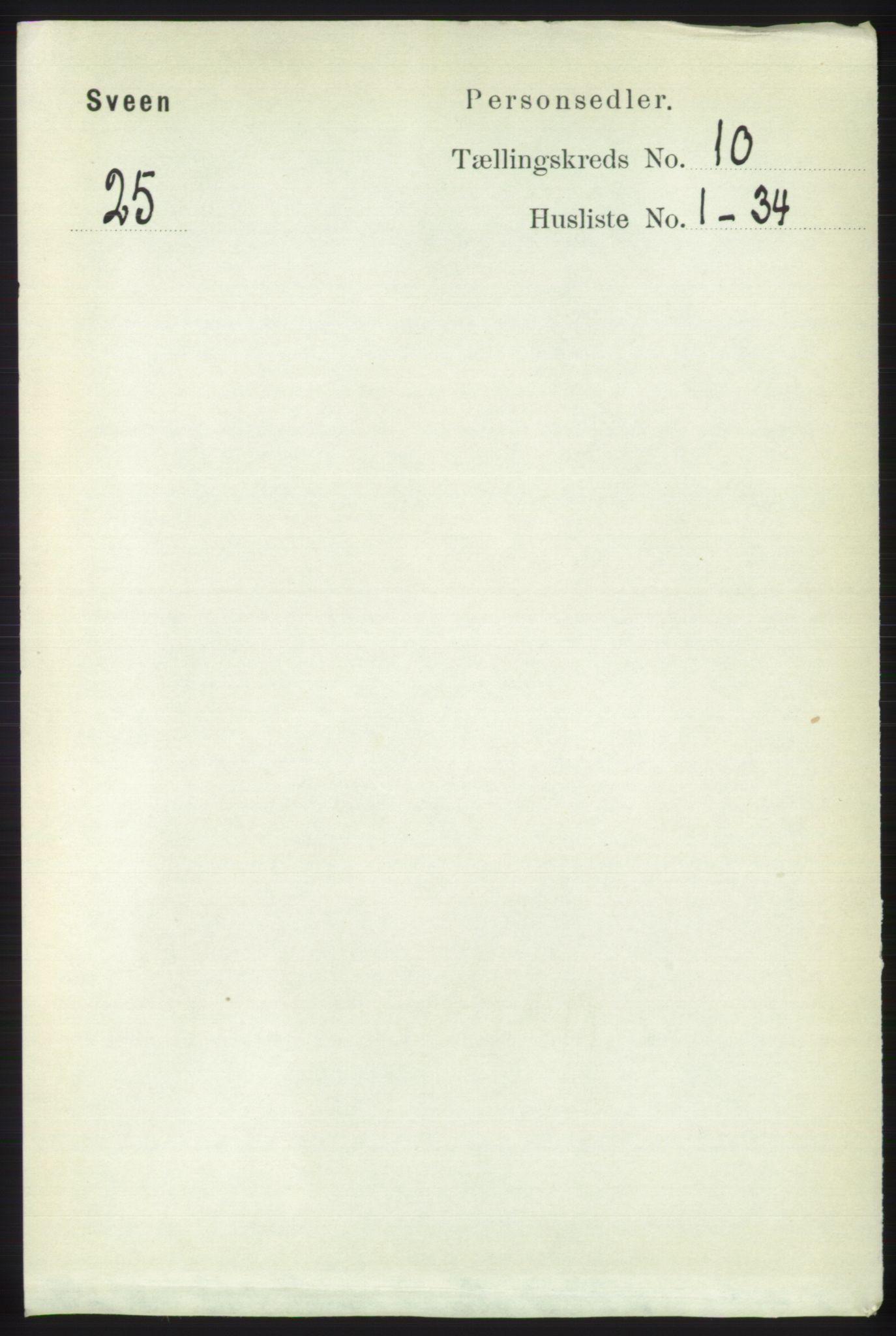 RA, Folketelling 1891 for 1216 Sveio herred, 1891, s. 2913