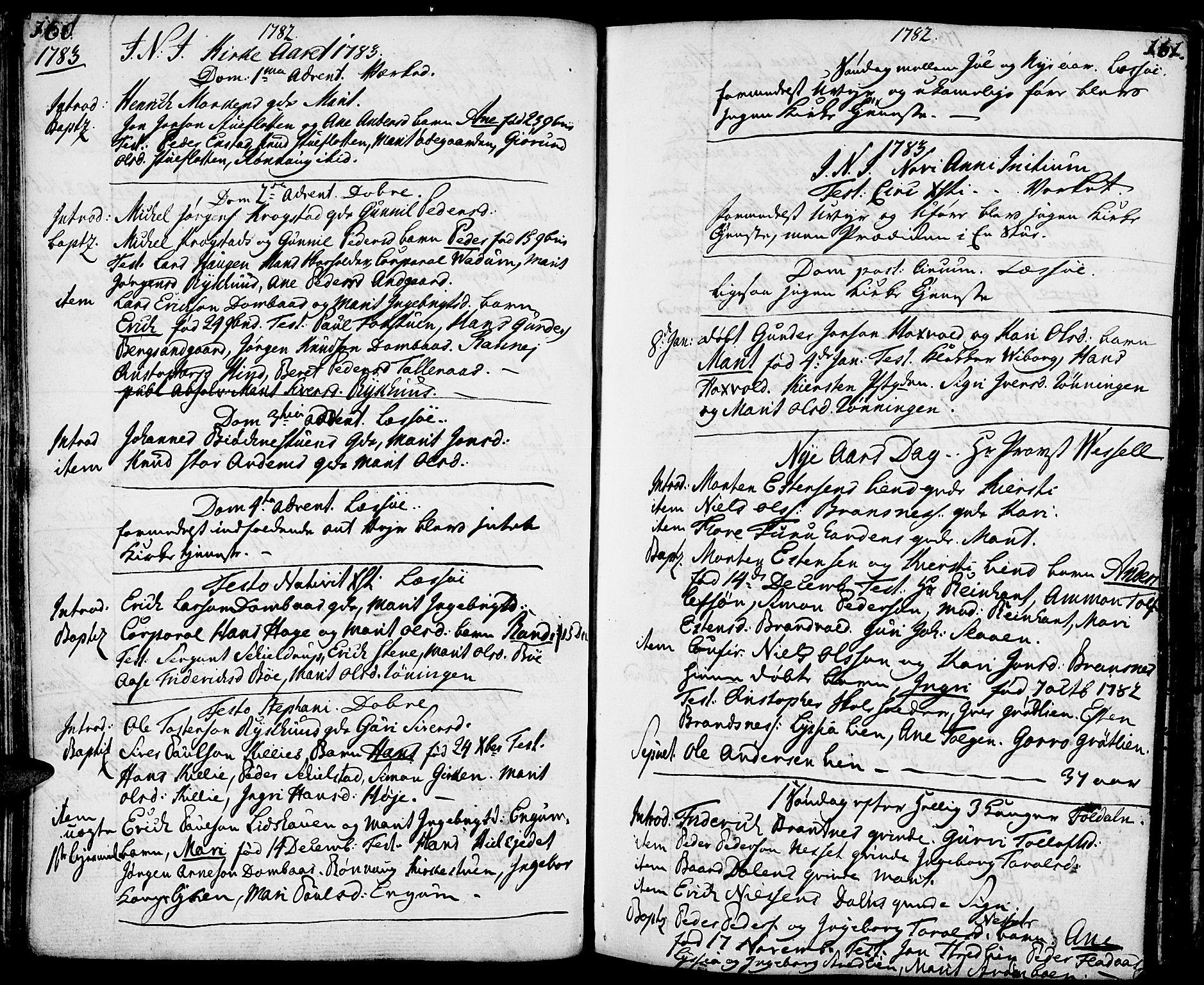 SAH, Lesja prestekontor, Ministerialbok nr. 3, 1777-1819, s. 160-161