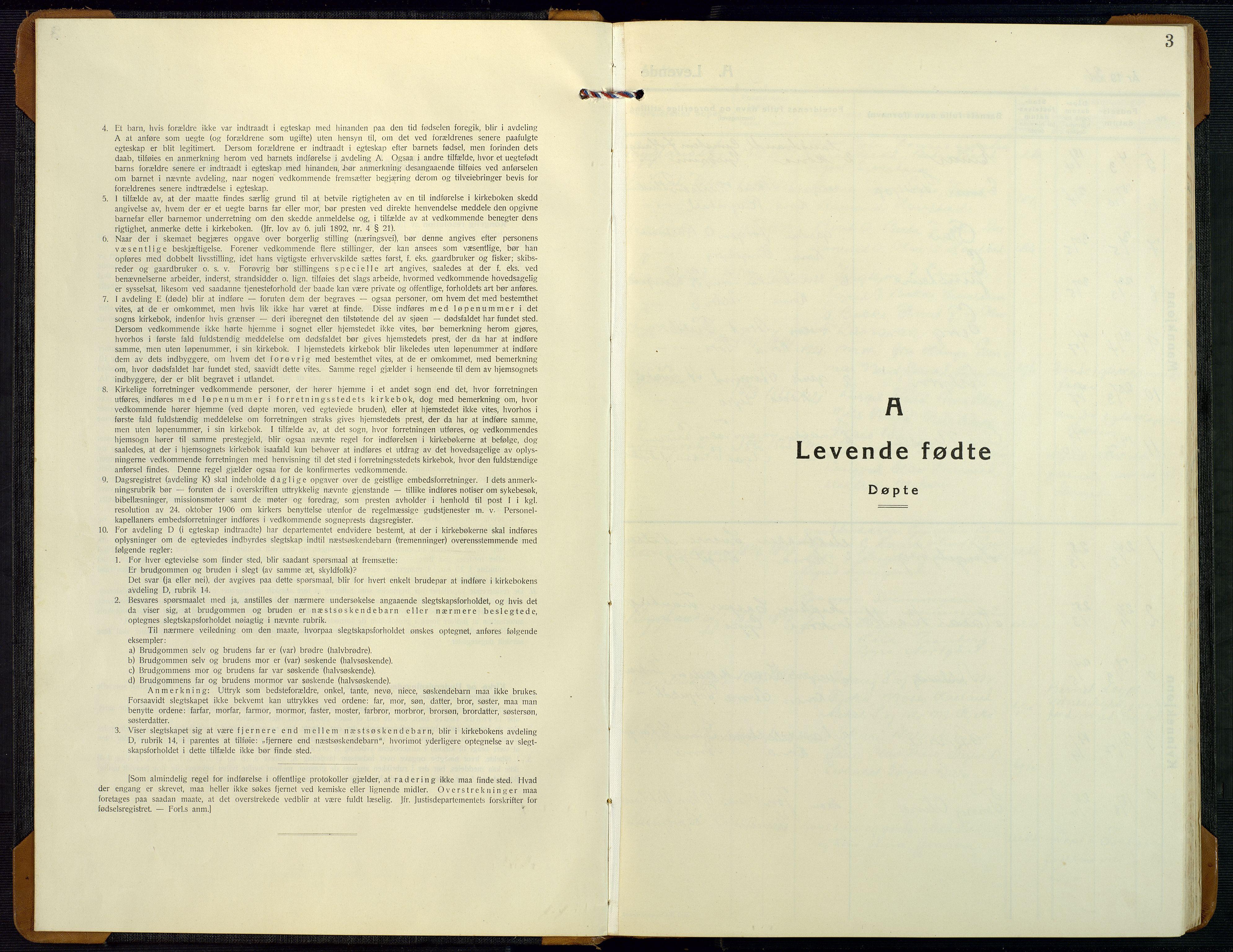 SAK, Bygland sokneprestkontor, F/Fb/Fbd/L0004: Klokkerbok nr. B 4, 1926-1971, s. 3