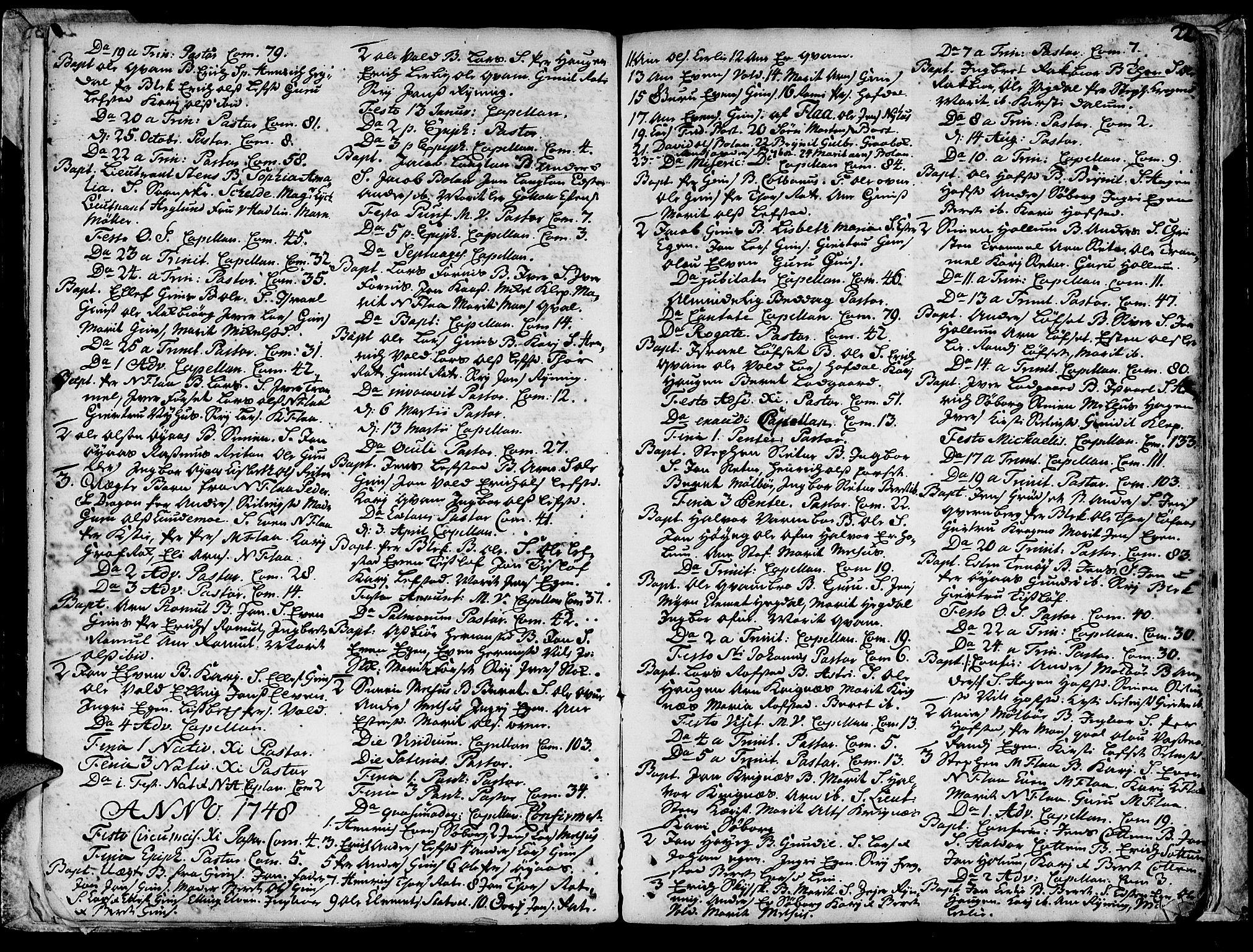 SAT, Ministerialprotokoller, klokkerbøker og fødselsregistre - Sør-Trøndelag, 691/L1057: Ministerialbok nr. 691A01 /1, 1740-1767, s. 22
