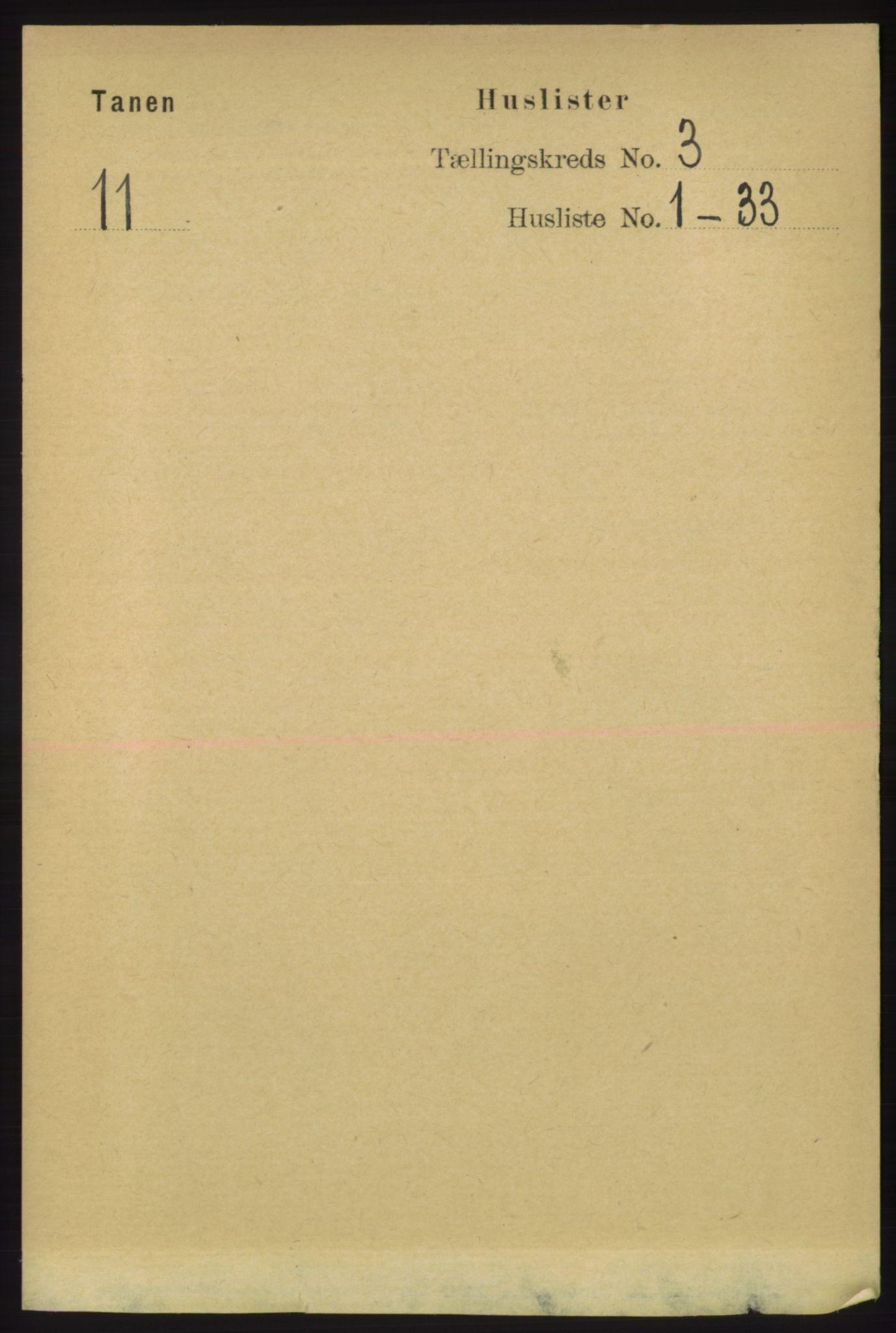 RA, Folketelling 1891 for 2025 Tana herred, 1891, s. 1469