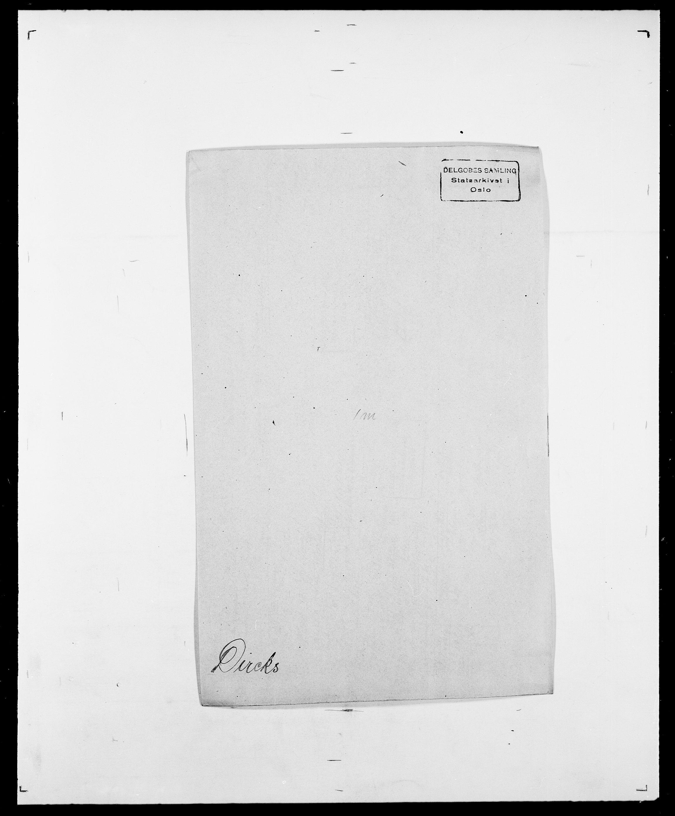 SAO, Delgobe, Charles Antoine - samling, D/Da/L0009: Dahl - v. Düren, s. 581
