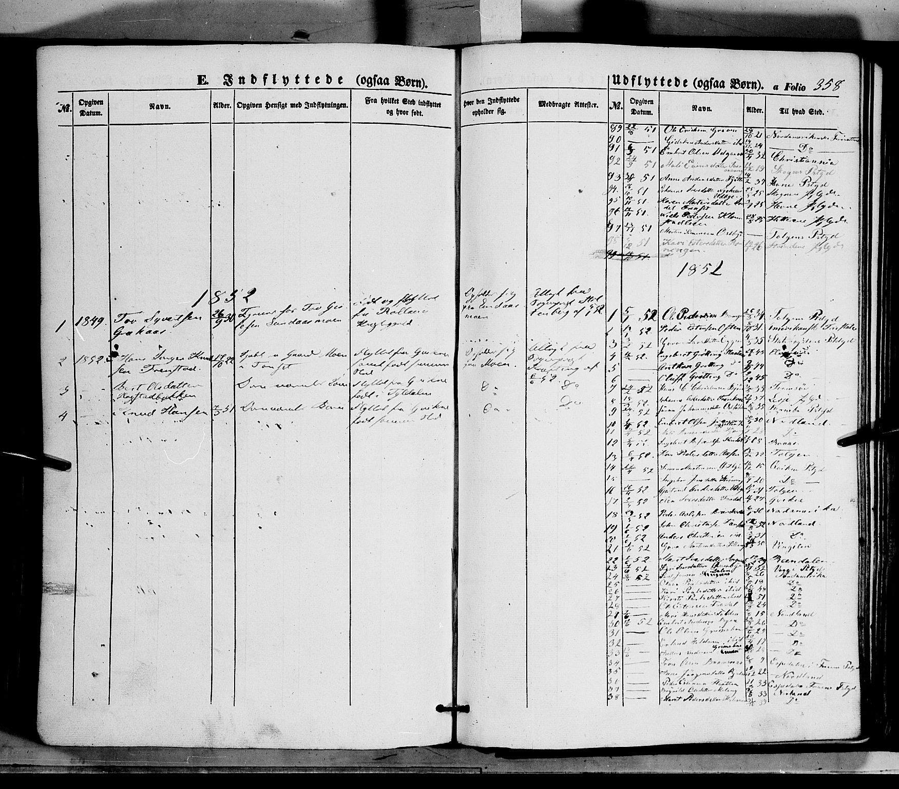 SAH, Tynset prestekontor, Ministerialbok nr. 20, 1848-1862, s. 358