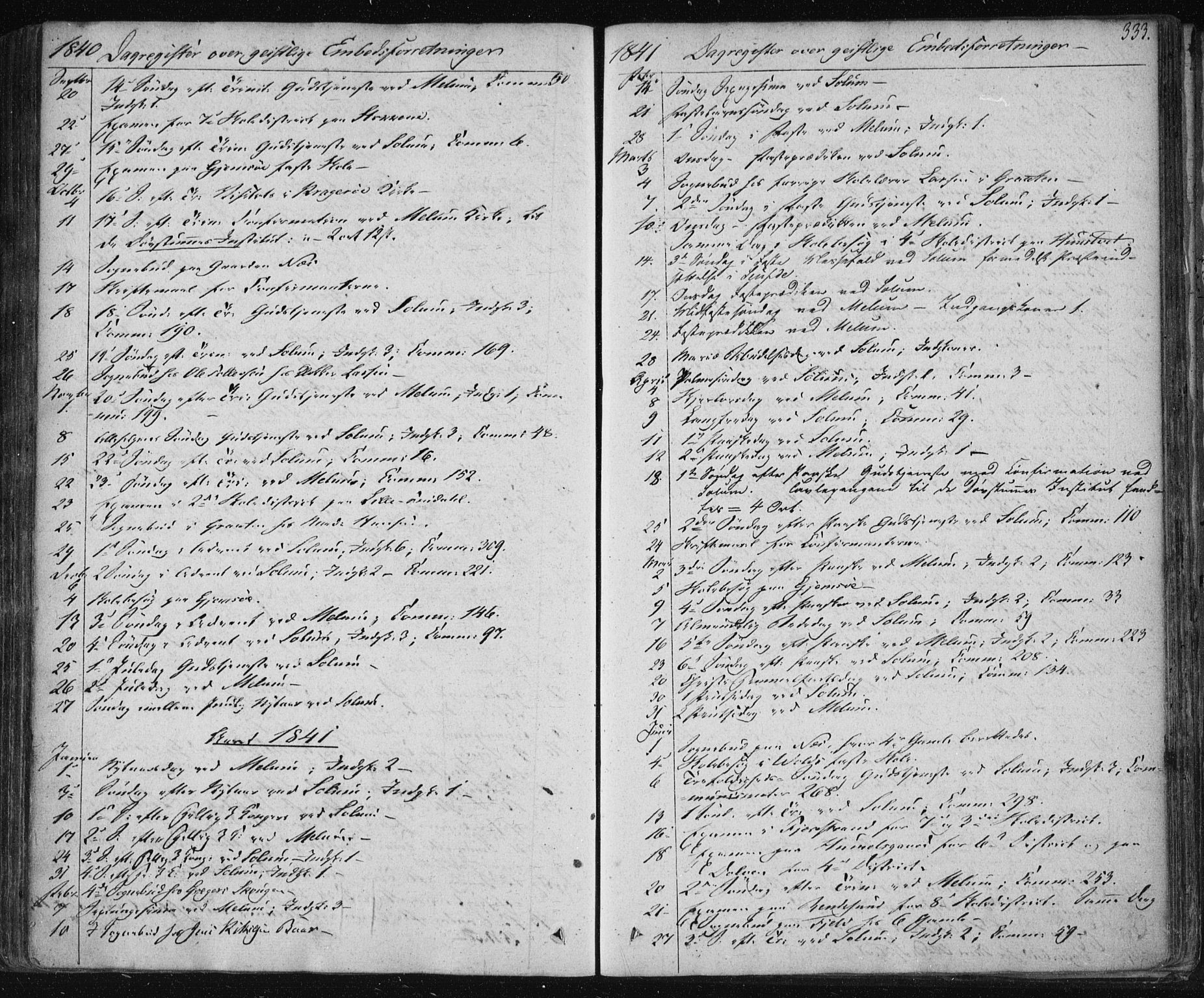 SAKO, Solum kirkebøker, F/Fa/L0005: Ministerialbok nr. I 5, 1833-1843, s. 333