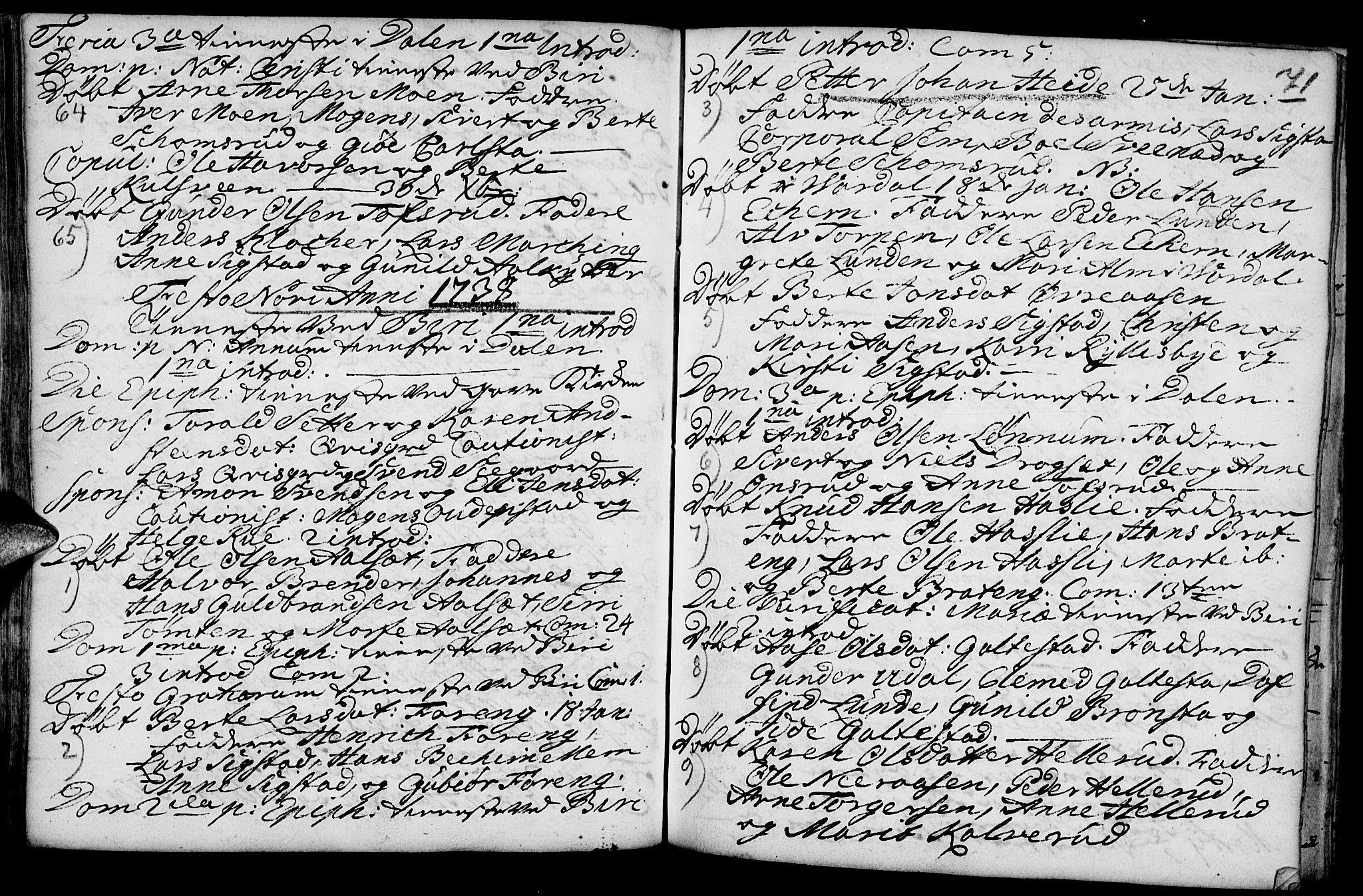 SAH, Biri prestekontor, Ministerialbok nr. 1, 1730-1754, s. 71