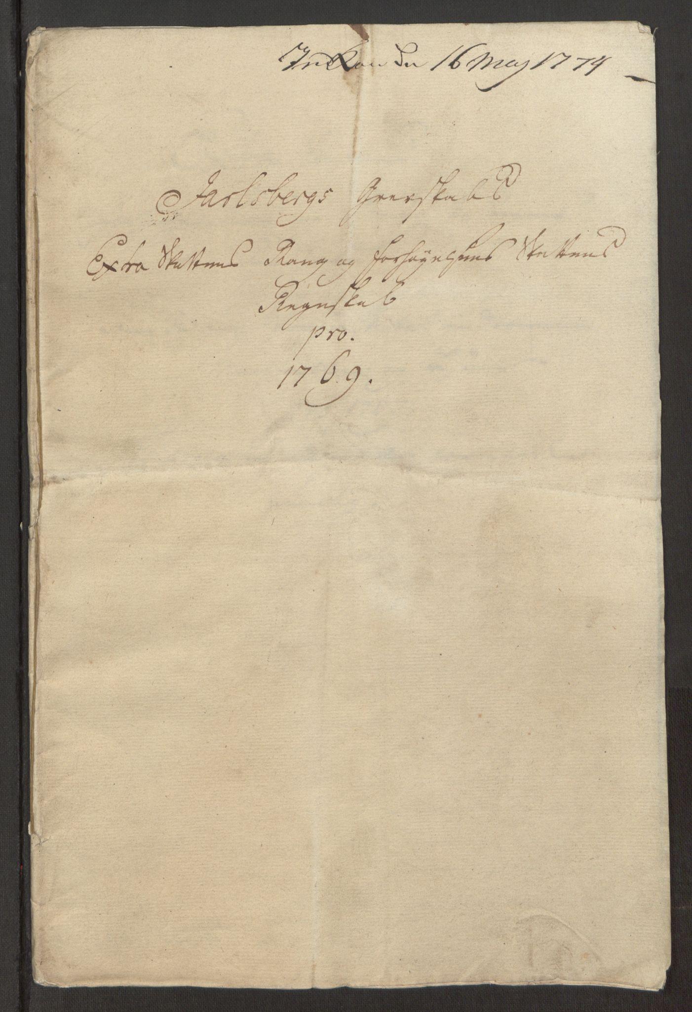 RA, Rentekammeret inntil 1814, Reviderte regnskaper, Fogderegnskap, R32/L1960: Ekstraskatten Jarlsberg grevskap, 1762-1772, s. 171