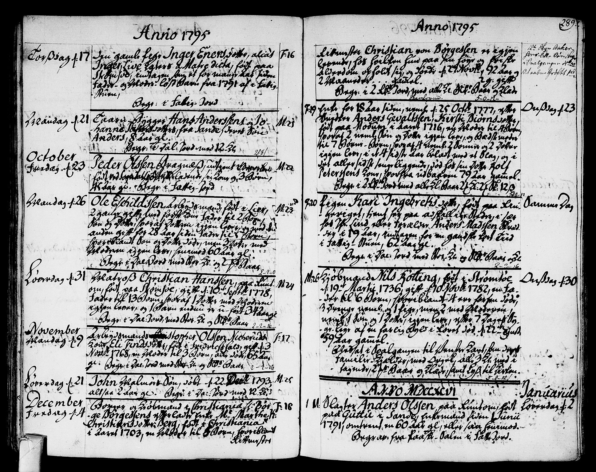 SAKO, Strømsø kirkebøker, F/Fa/L0010: Ministerialbok nr. I 10, 1792-1822, s. 289