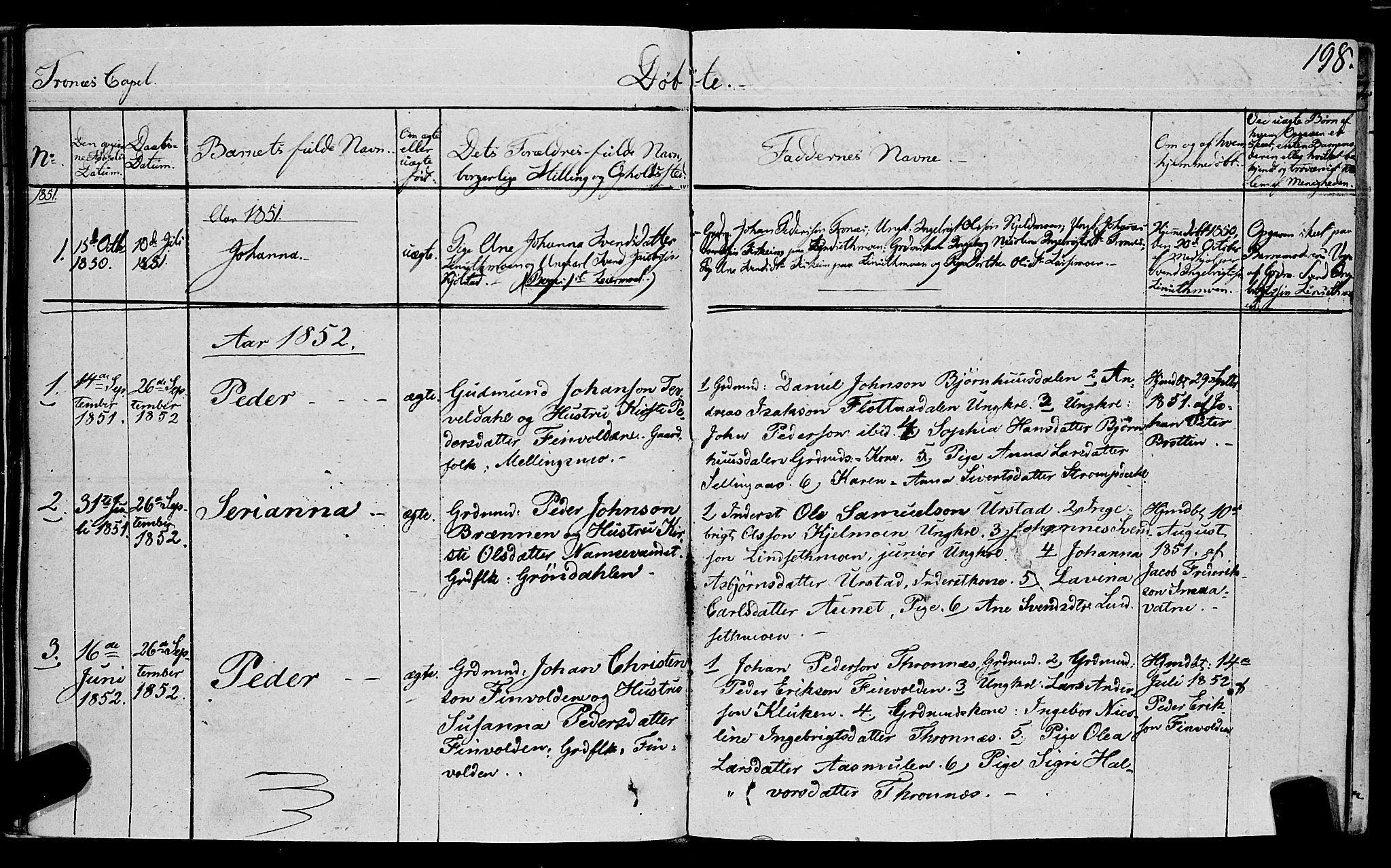 SAT, Ministerialprotokoller, klokkerbøker og fødselsregistre - Nord-Trøndelag, 762/L0538: Ministerialbok nr. 762A02 /2, 1833-1879, s. 198