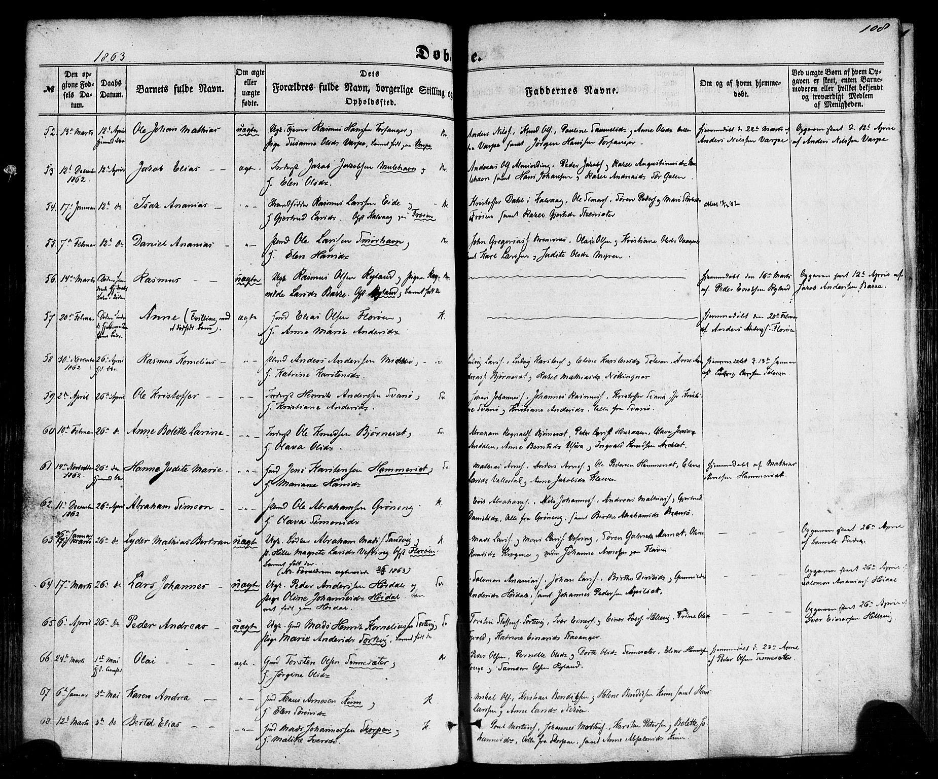 SAB, Kinn Sokneprestembete, Ministerialbok nr. A 6, 1857-1885, s. 108