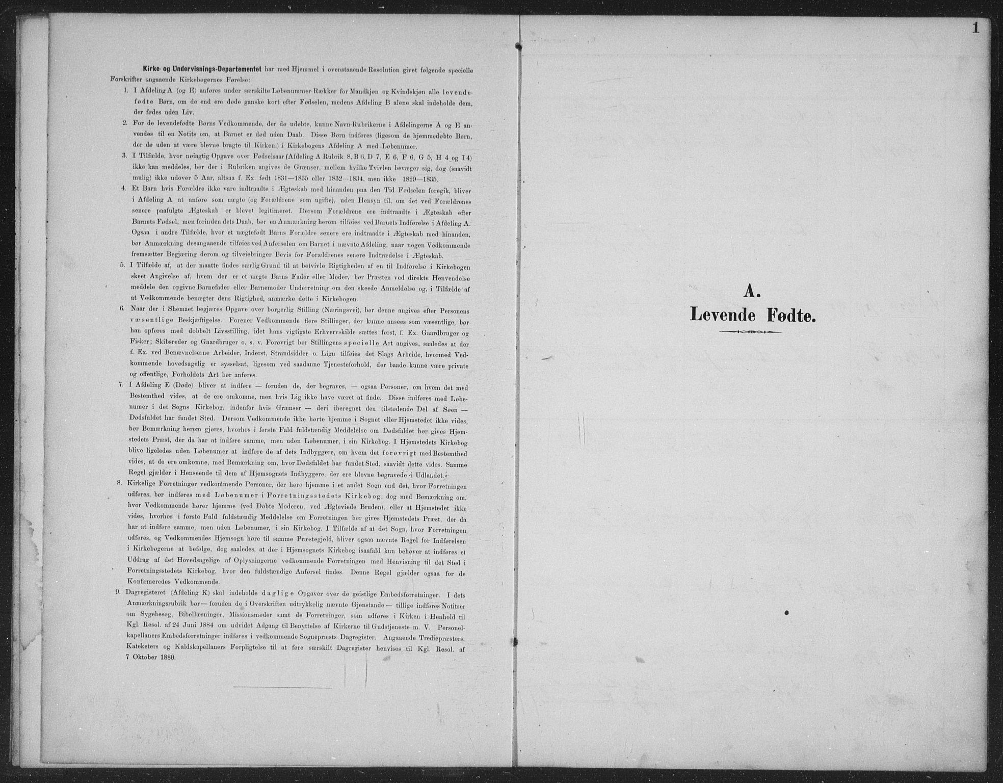 SAKO, Seljord kirkebøker, G/Gc/L0003: Klokkerbok nr. III 3, 1887-1926, s. 1