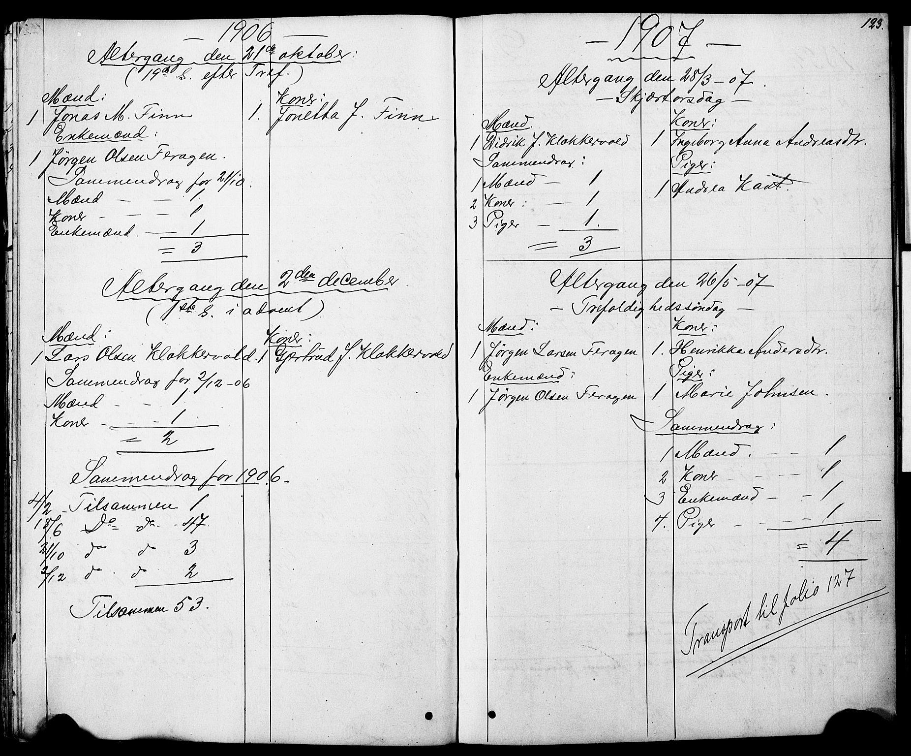 SAT, Ministerialprotokoller, klokkerbøker og fødselsregistre - Sør-Trøndelag, 683/L0949: Klokkerbok nr. 683C01, 1880-1896, s. 123