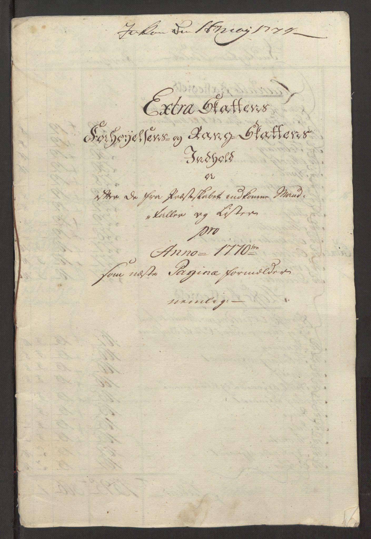 RA, Rentekammeret inntil 1814, Reviderte regnskaper, Fogderegnskap, R32/L1960: Ekstraskatten Jarlsberg grevskap, 1762-1772, s. 186