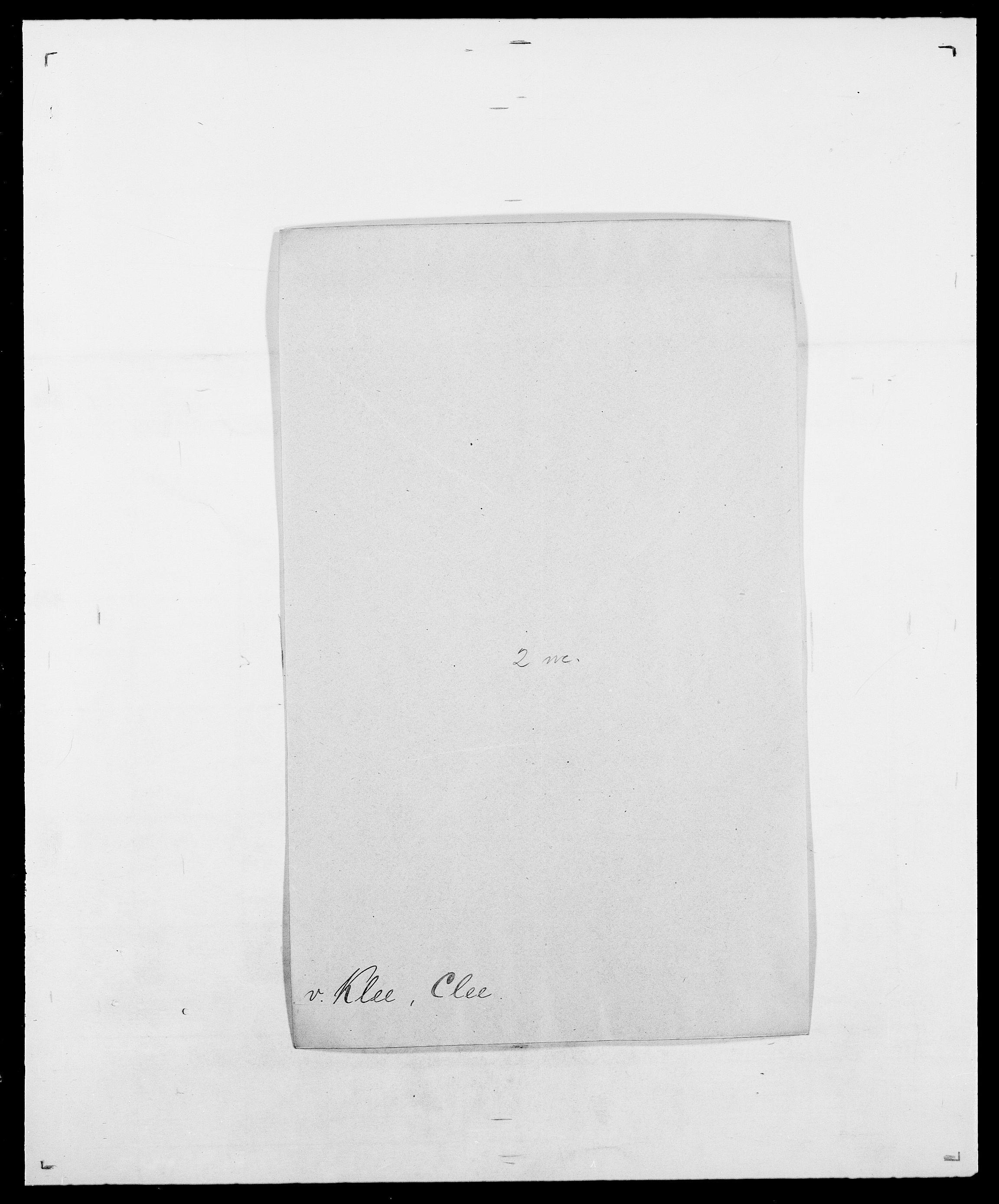 SAO, Delgobe, Charles Antoine - samling, D/Da/L0021: Klagenberg - Kristoft, s. 11