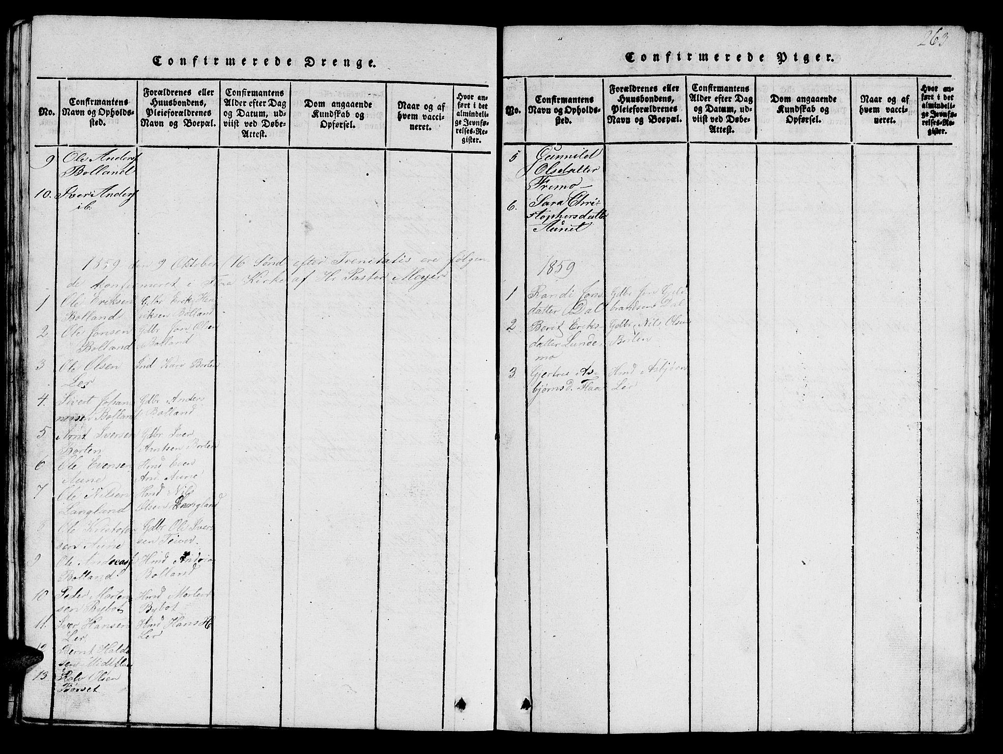 SAT, Ministerialprotokoller, klokkerbøker og fødselsregistre - Sør-Trøndelag, 693/L1121: Klokkerbok nr. 693C02, 1816-1869, s. 263