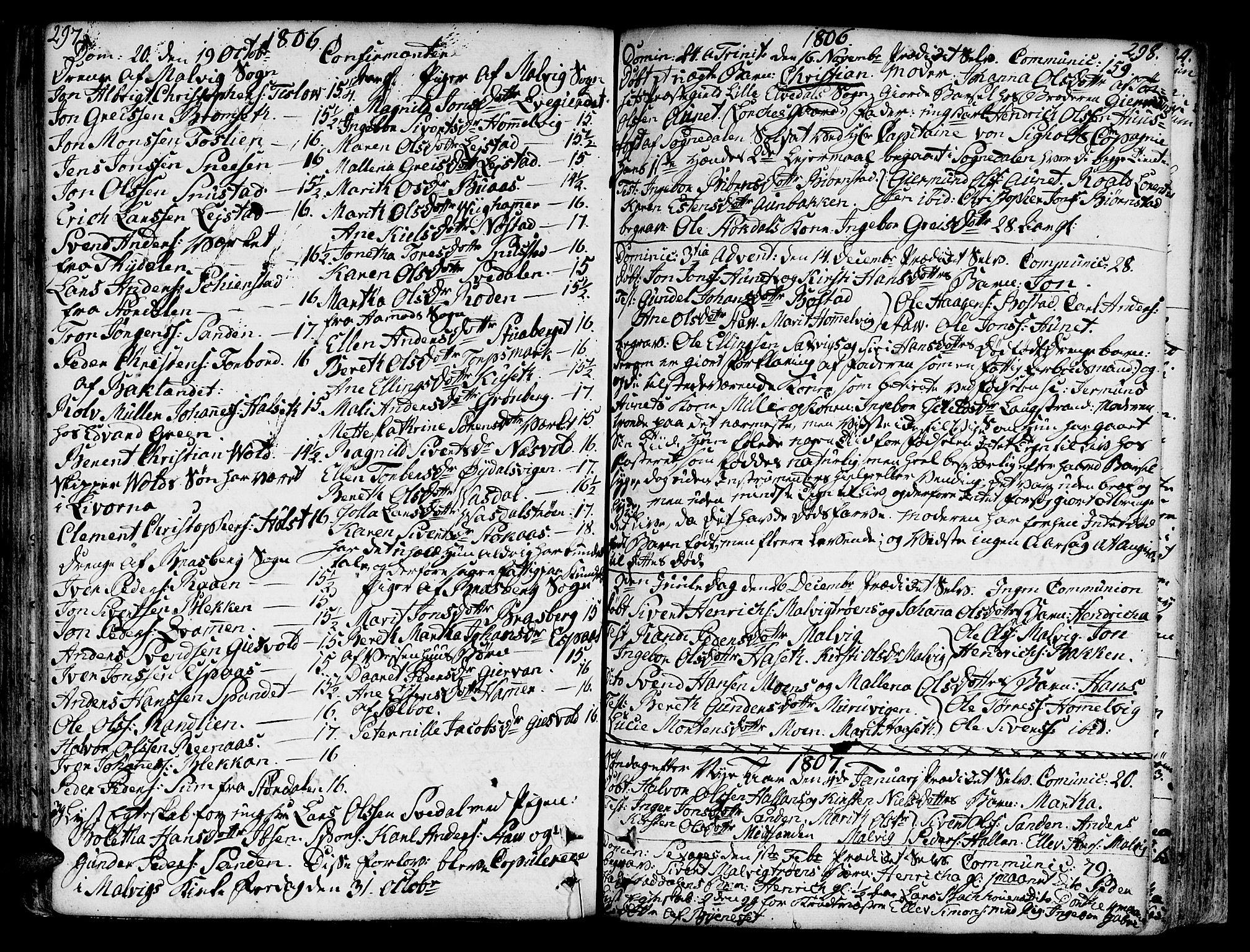 SAT, Ministerialprotokoller, klokkerbøker og fødselsregistre - Sør-Trøndelag, 606/L0281: Ministerialbok nr. 606A02 /2, 1781-1817, s. 297-298