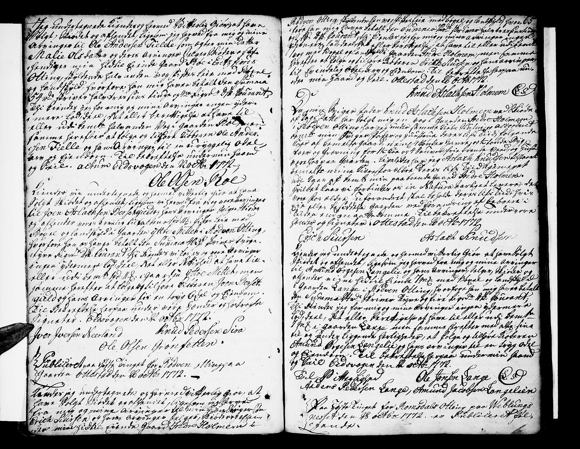 SAT, Romsdal sorenskriveri, 2/2C/L0004: Pantebok nr. 4, 1769-1790, s. 65