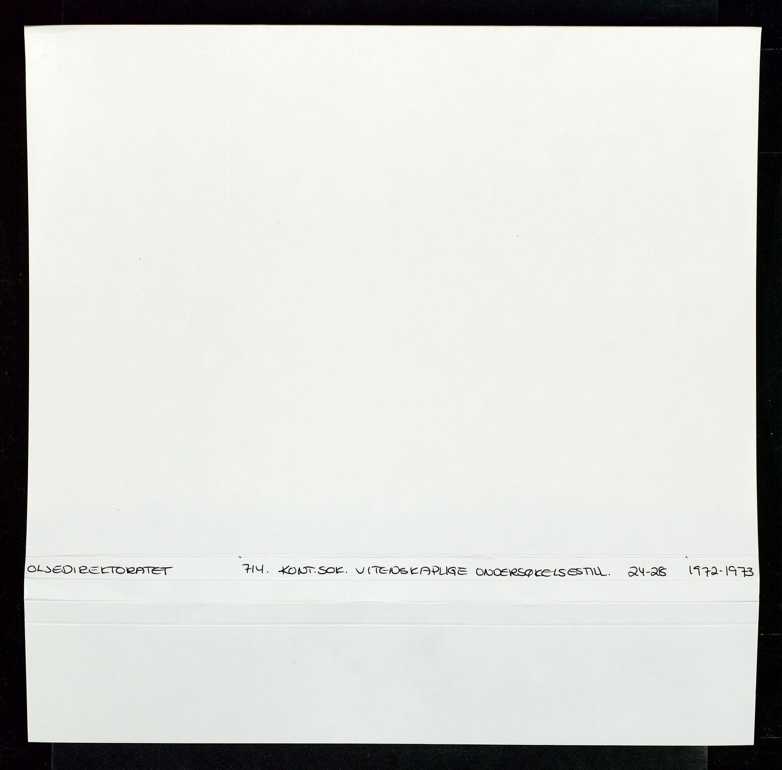 SAST, Industridepartementet, Oljekontoret, Da/L0006:  Arkivnøkkel 714 Vitenskapelige undersøkelser, 1963-1973, s. 2