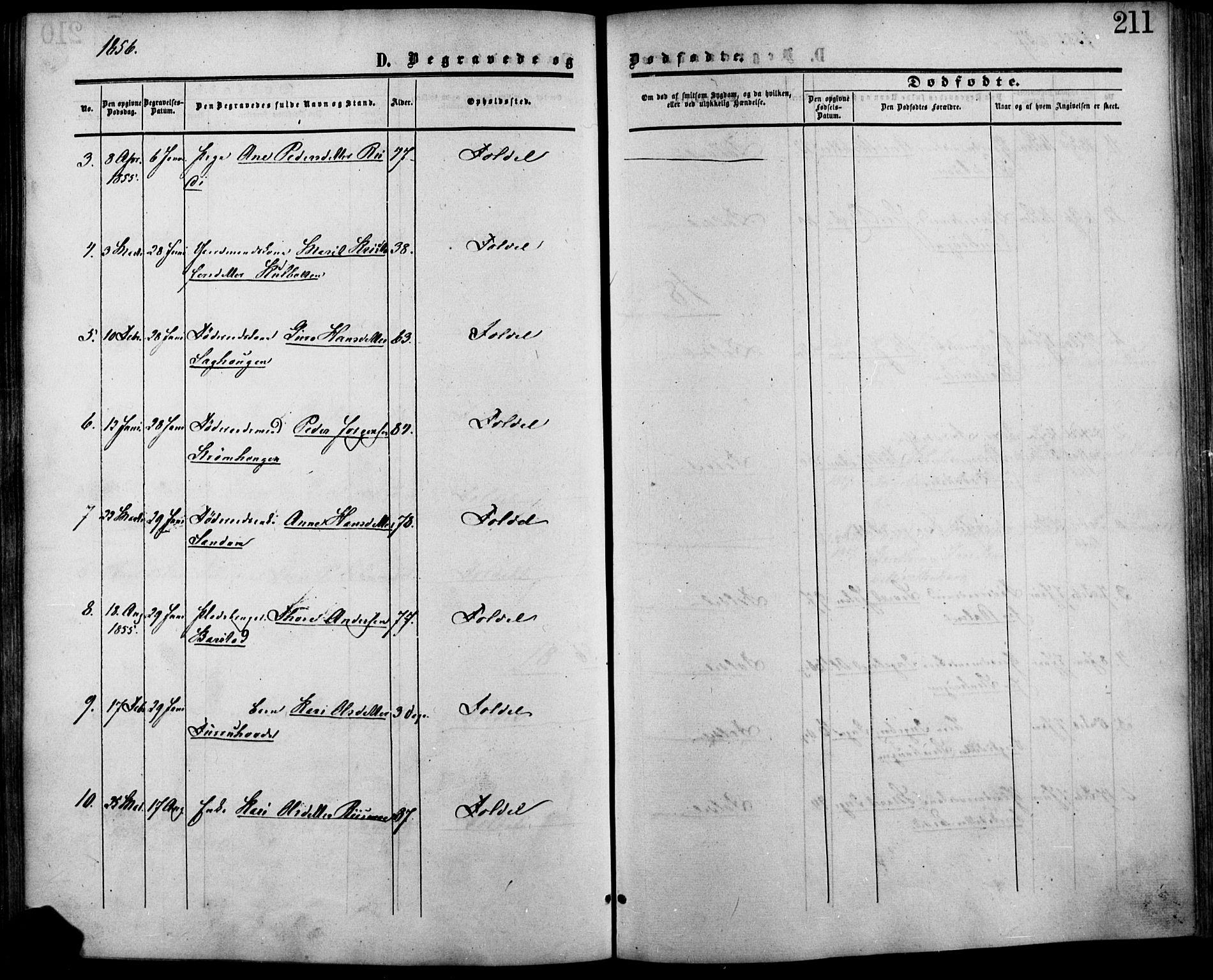 SAH, Lesja prestekontor, Ministerialbok nr. 7, 1854-1862, s. 211