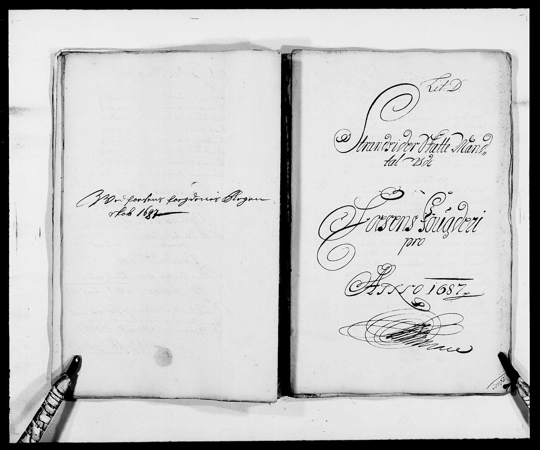 RA, Rentekammeret inntil 1814, Reviderte regnskaper, Fogderegnskap, R57/L3845: Fogderegnskap Fosen, 1687, s. 31