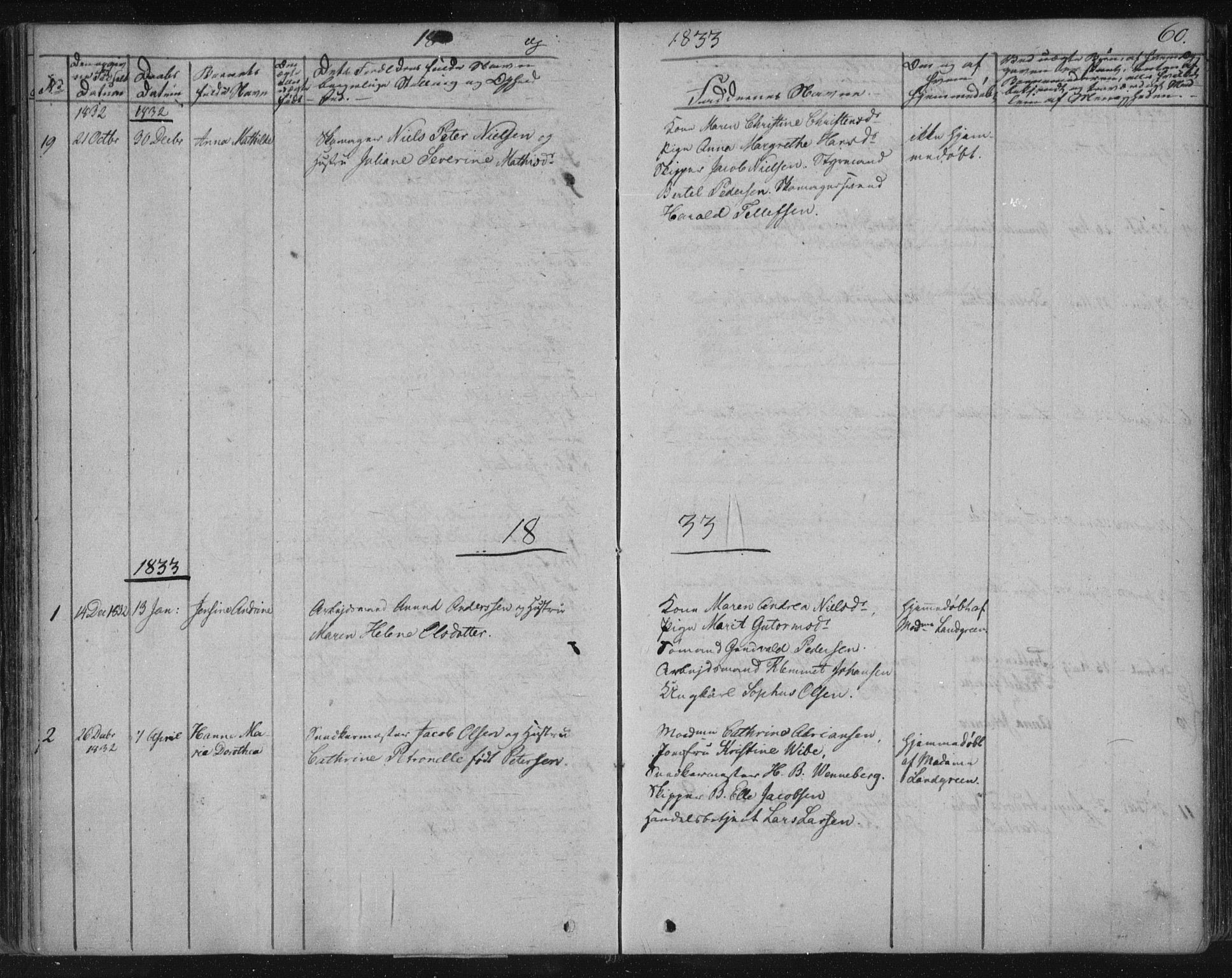 SAKO, Kragerø kirkebøker, F/Fa/L0005: Ministerialbok nr. 5, 1832-1847, s. 60