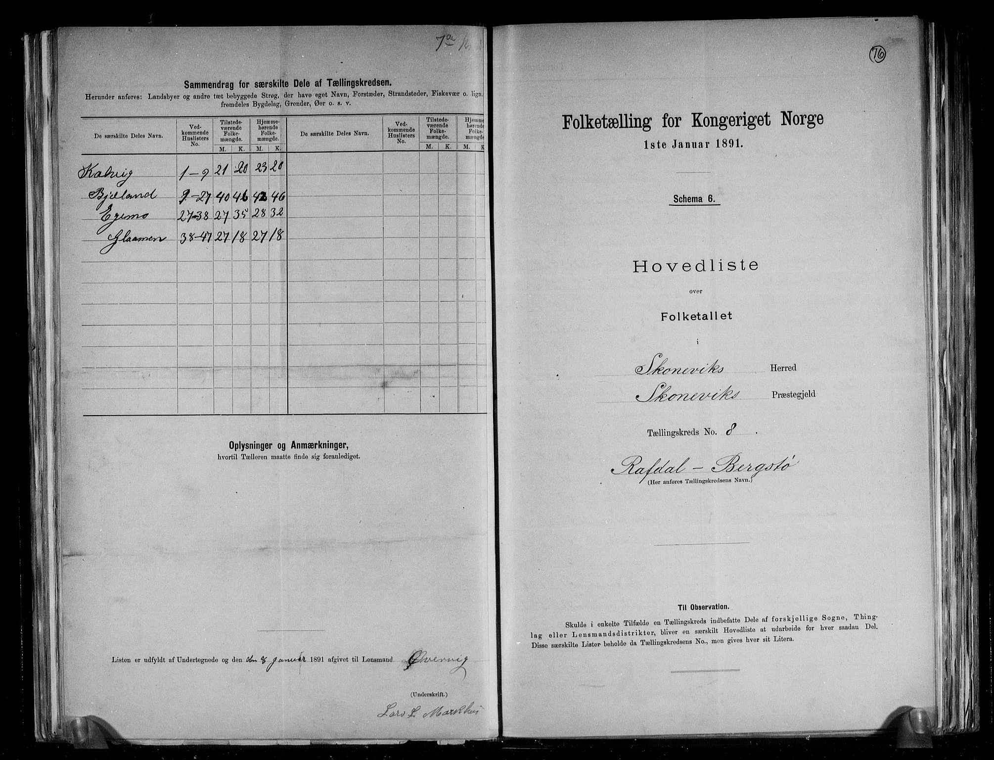 RA, Folketelling 1891 for 1212 Skånevik herred, 1891, s. 18
