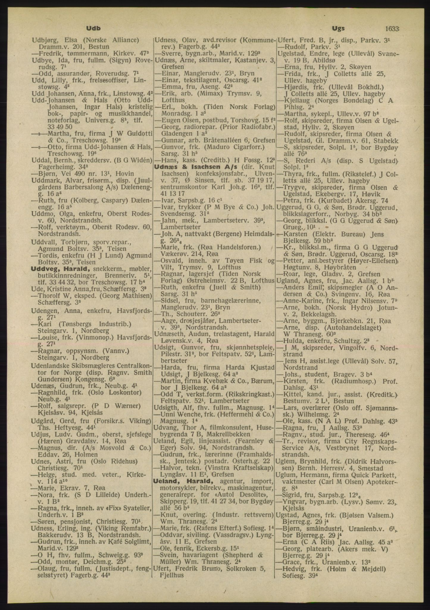 PUBL, Kristiania/Oslo adressebok, 1955, s. 1633