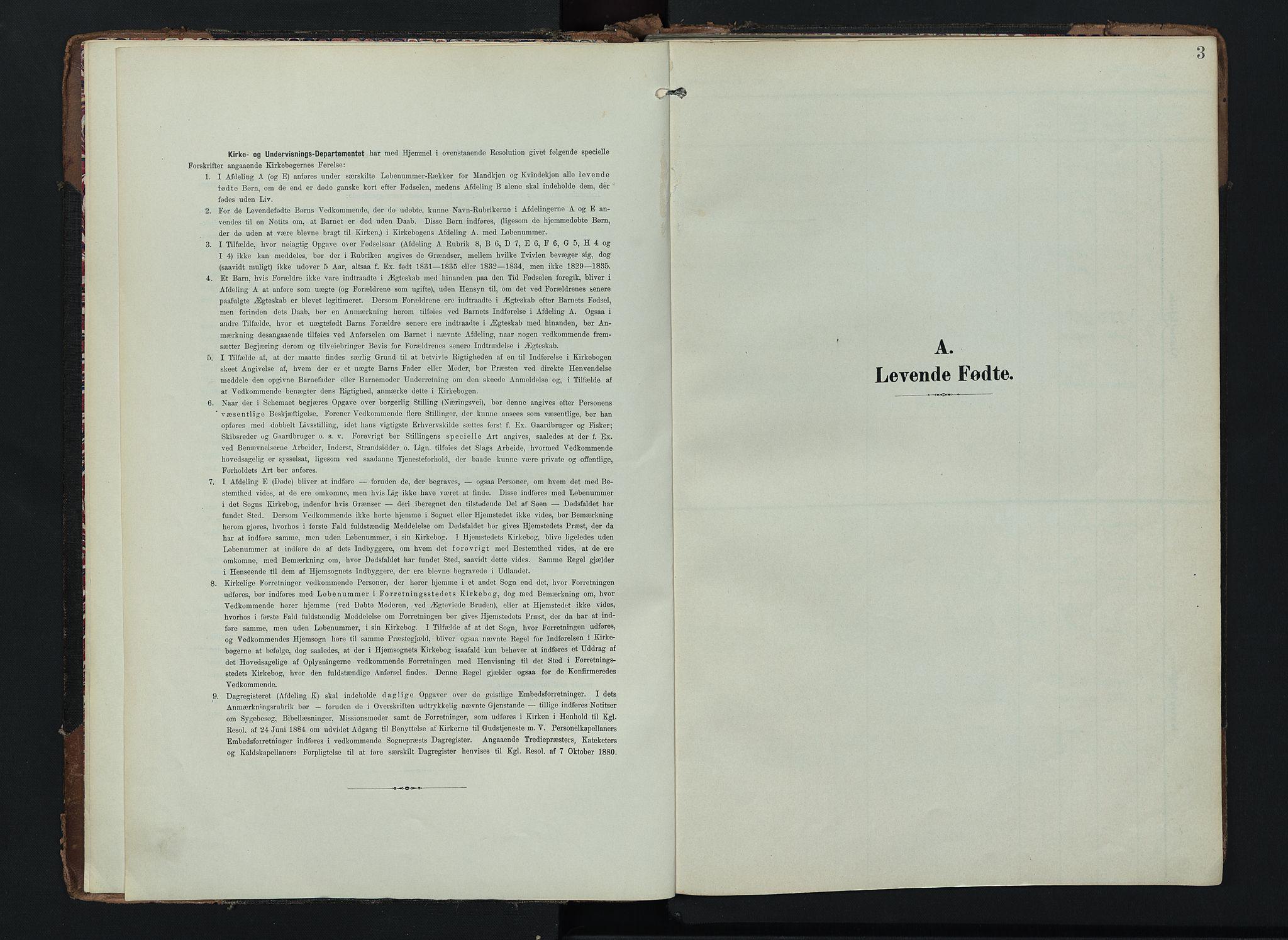 SAH, Lom prestekontor, K/L0012: Ministerialbok nr. 12, 1904-1928, s. 3