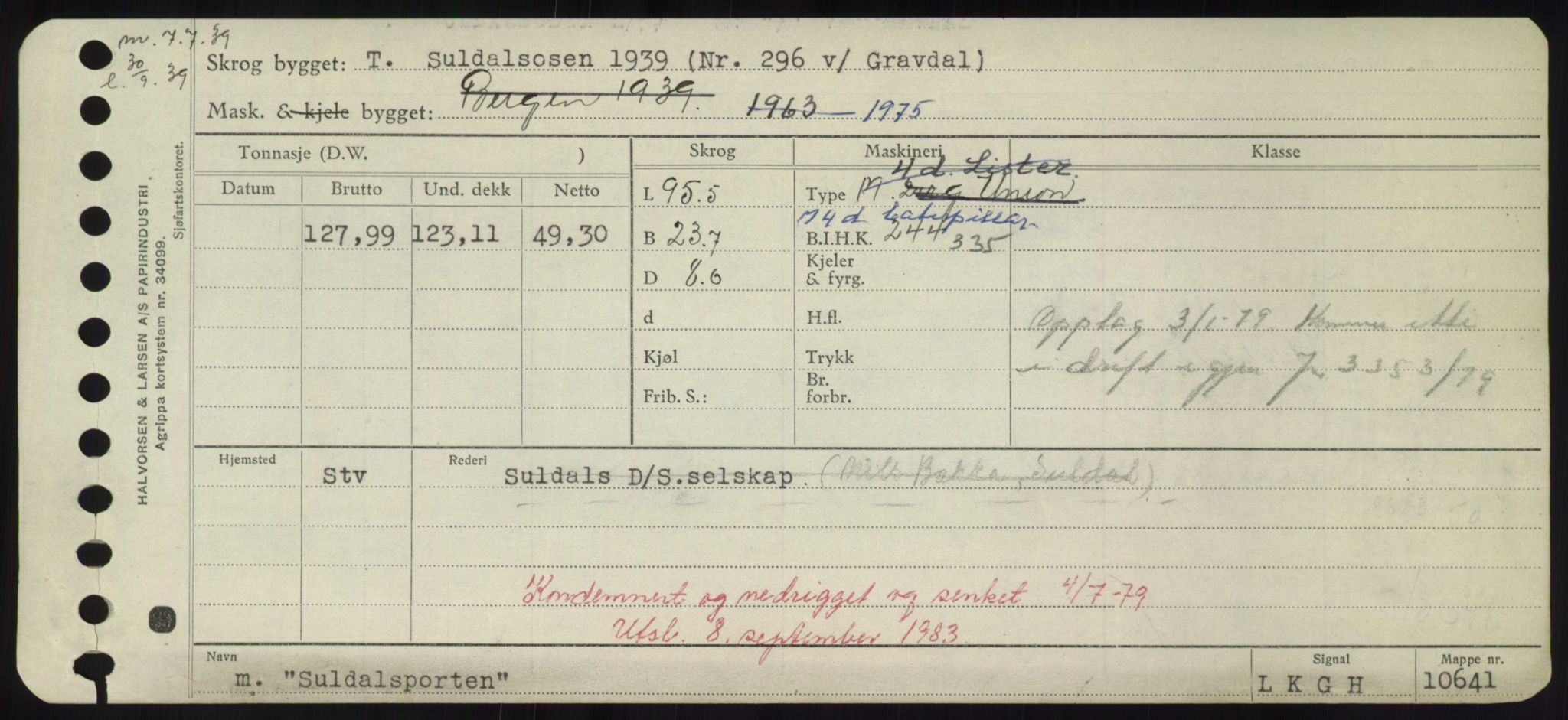 RA, Sjøfartsdirektoratet med forløpere, Skipsmålingen, H/Hd/L0037: Fartøy, Su-Så, s. 37
