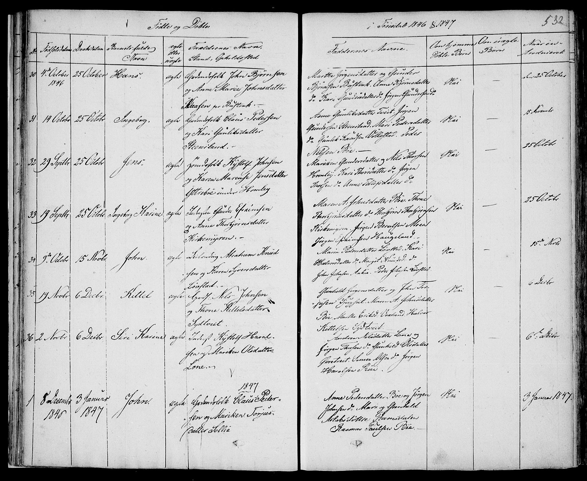 SAKO, Drangedal kirkebøker, F/Fa/L0007b: Ministerialbok nr. 7b, 1837-1856, s. 532