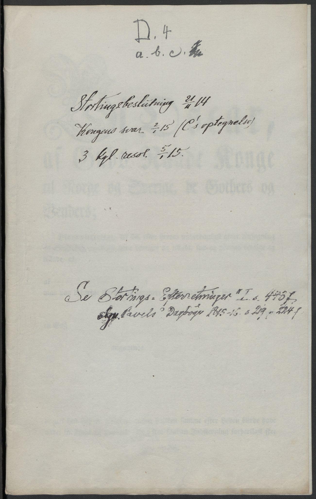 RA, Christie, Wilhelm Frimann Koren, F/L0004, 1814, s. 242