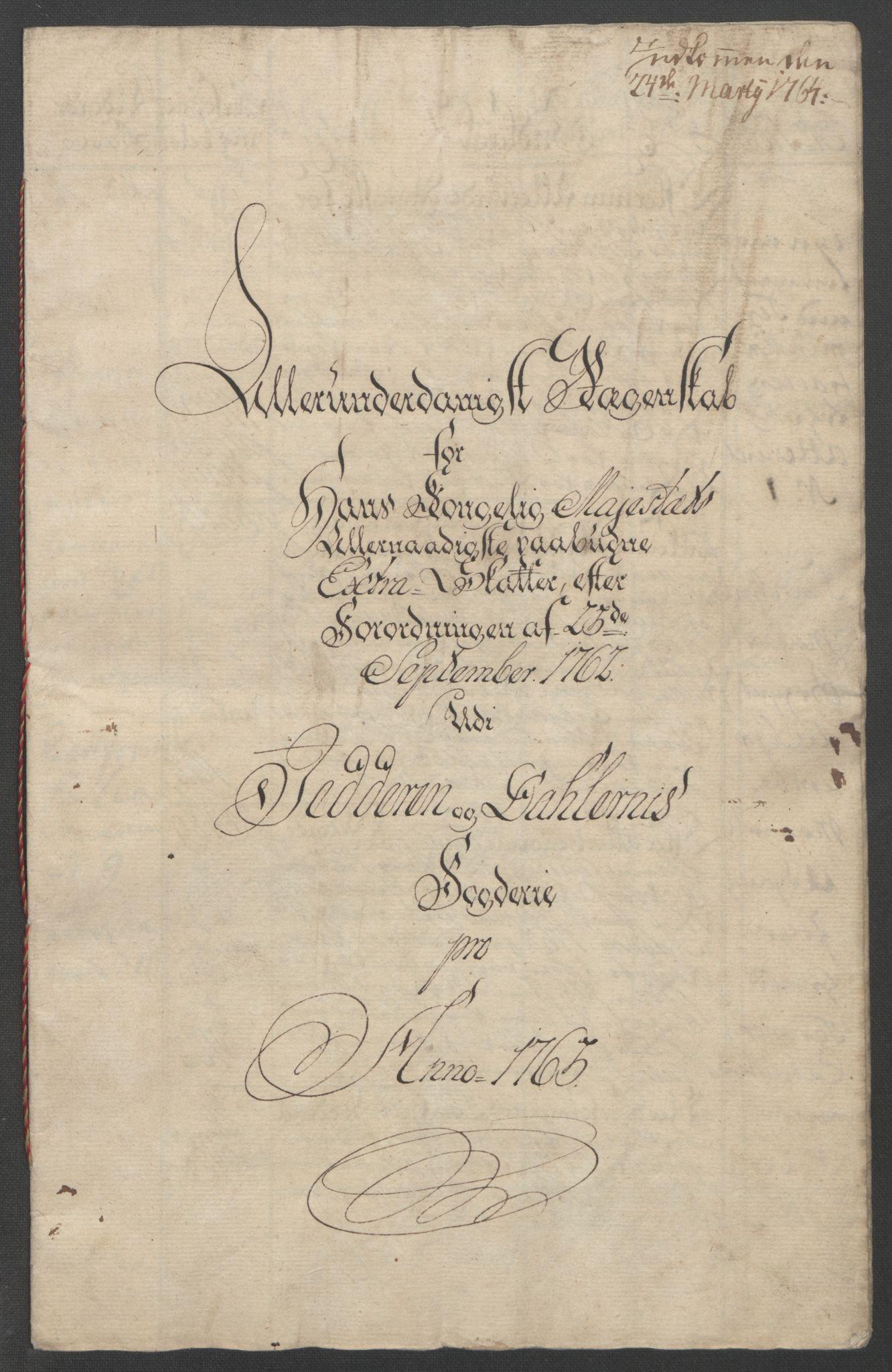 RA, Rentekammeret inntil 1814, Reviderte regnskaper, Fogderegnskap, R46/L2835: Ekstraskatten Jæren og Dalane, 1762-1764, s. 49