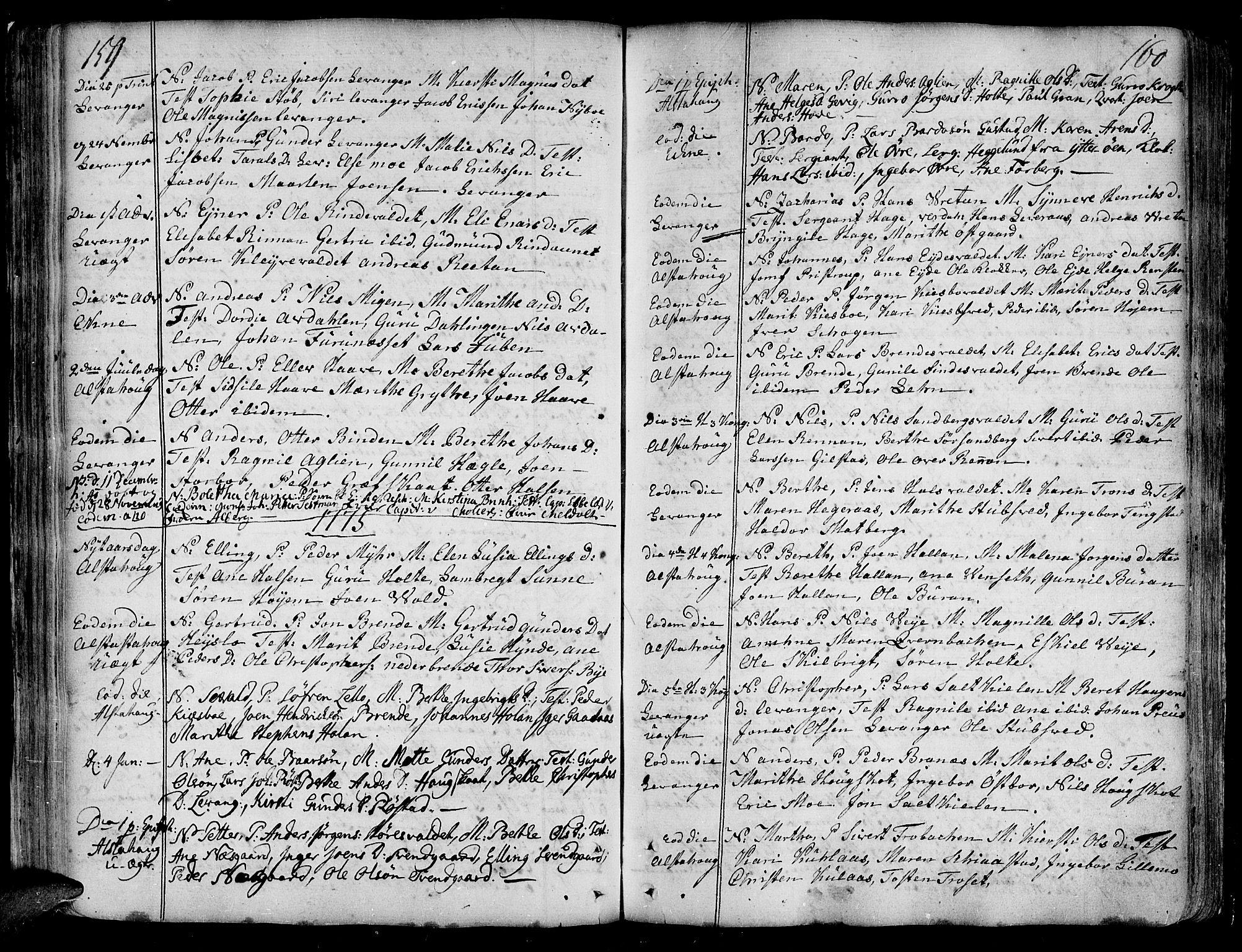SAT, Ministerialprotokoller, klokkerbøker og fødselsregistre - Nord-Trøndelag, 717/L0141: Ministerialbok nr. 717A01, 1747-1803, s. 159-160