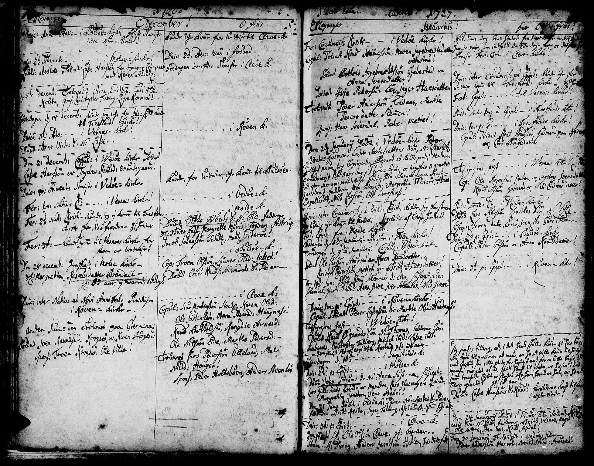 SAT, Ministerialprotokoller, klokkerbøker og fødselsregistre - Møre og Romsdal, 547/L0599: Ministerialbok nr. 547A01, 1721-1764, s. 78-79