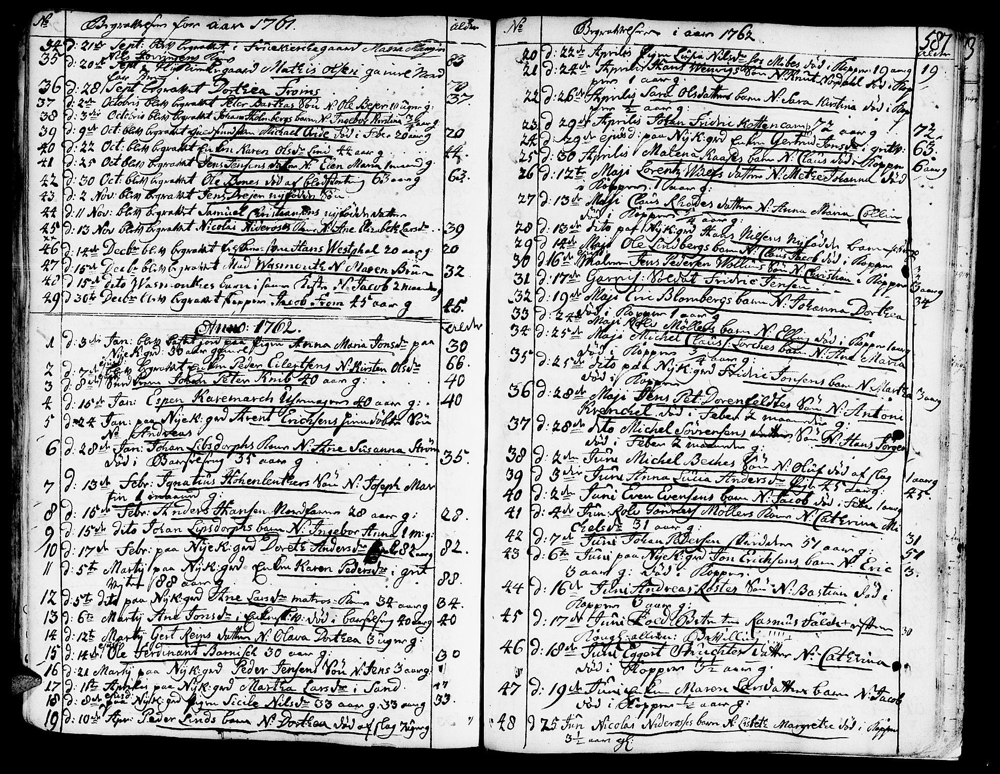 SAT, Ministerialprotokoller, klokkerbøker og fødselsregistre - Sør-Trøndelag, 602/L0103: Ministerialbok nr. 602A01, 1732-1774, s. 587