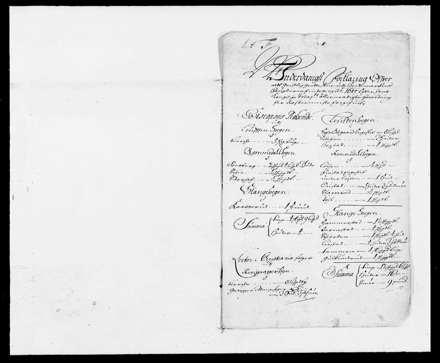 RA, Rentekammeret inntil 1814, Reviderte regnskaper, Fogderegnskap, R16/L1026: Fogderegnskap Hedmark, 1685, s. 130