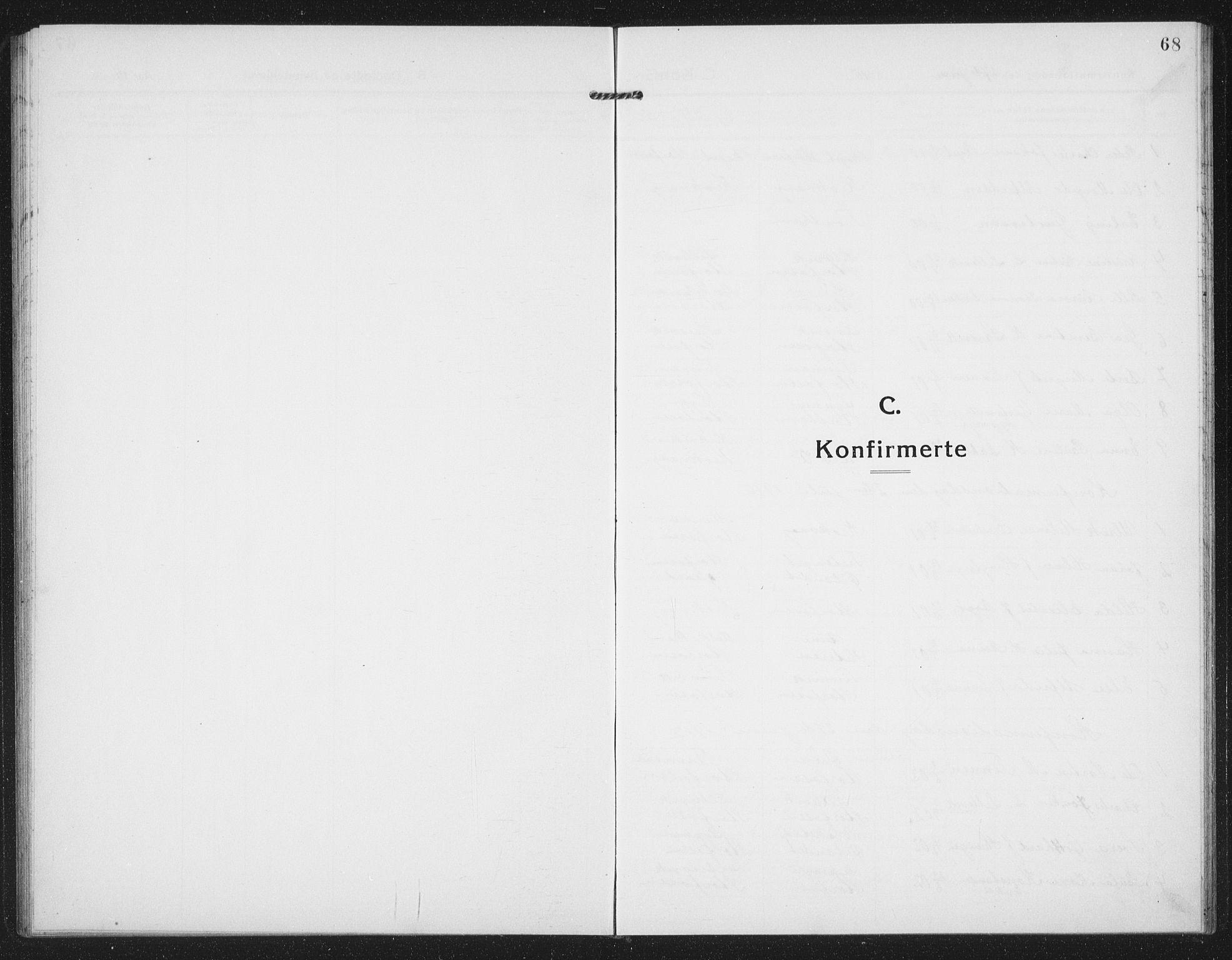 SAT, Ministerialprotokoller, klokkerbøker og fødselsregistre - Sør-Trøndelag, 659/L0750: Klokkerbok nr. 659C07, 1914-1940, s. 68