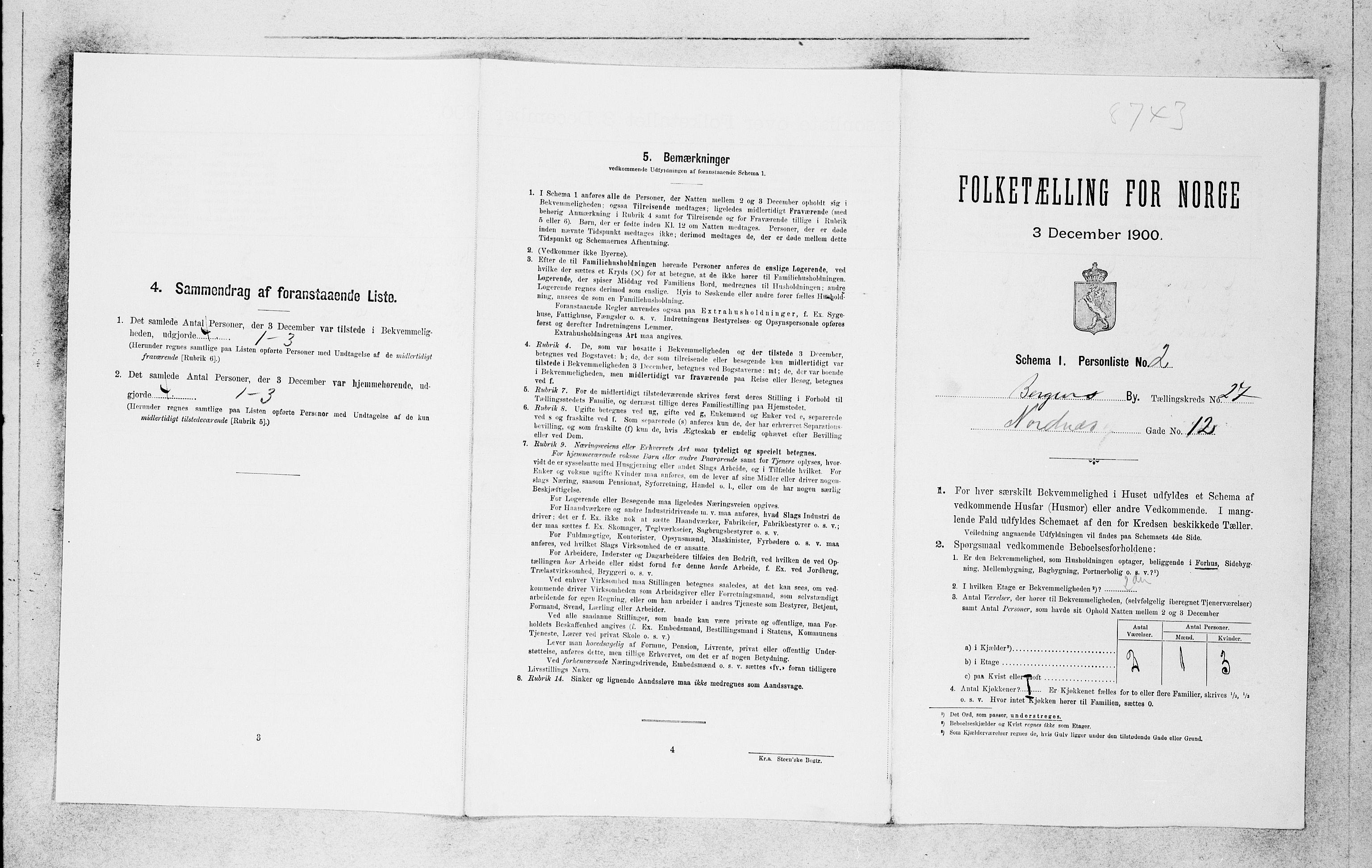 SAB, Folketelling 1900 for 1301 Bergen kjøpstad, 1900, s. 5670